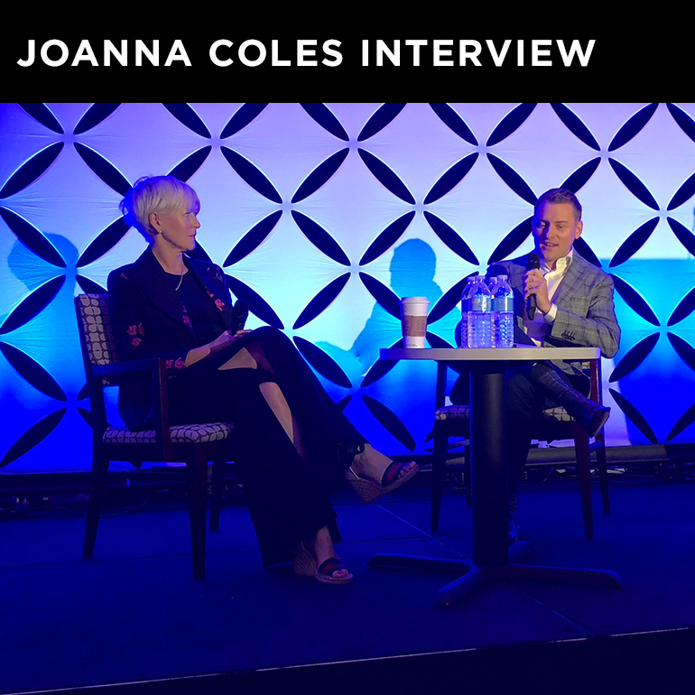 SOMACOMM LEADERSHIP   SomaComm CEO James Shackelford, APR interviews former Hearst Chief Content Officer Joanna Coles at Corporate Communications Conference.