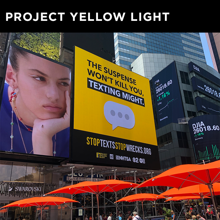 CLIENT COVERAGE  CBS New York announces the winners of the Project Yellow Light scholarship competition.