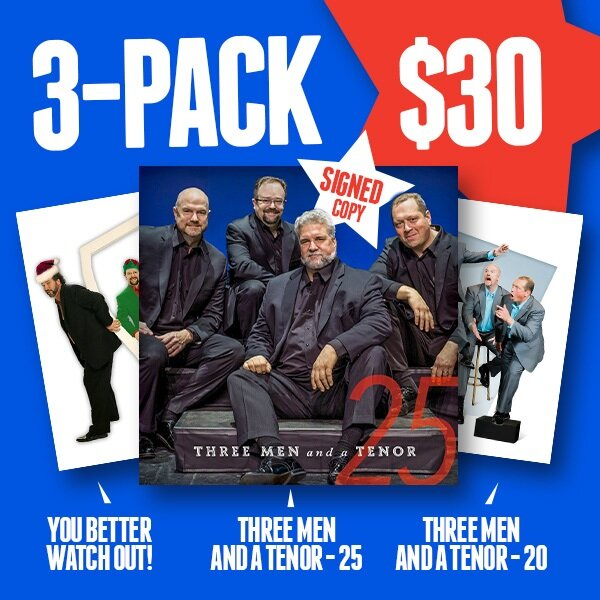 "Get the 3 pack of 3MT! With each order, you get an autographed copy of the new CD ""3MT25"""