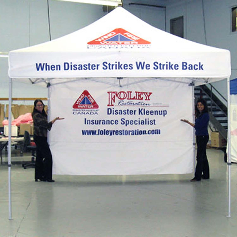 Disaster Kleenup Tent