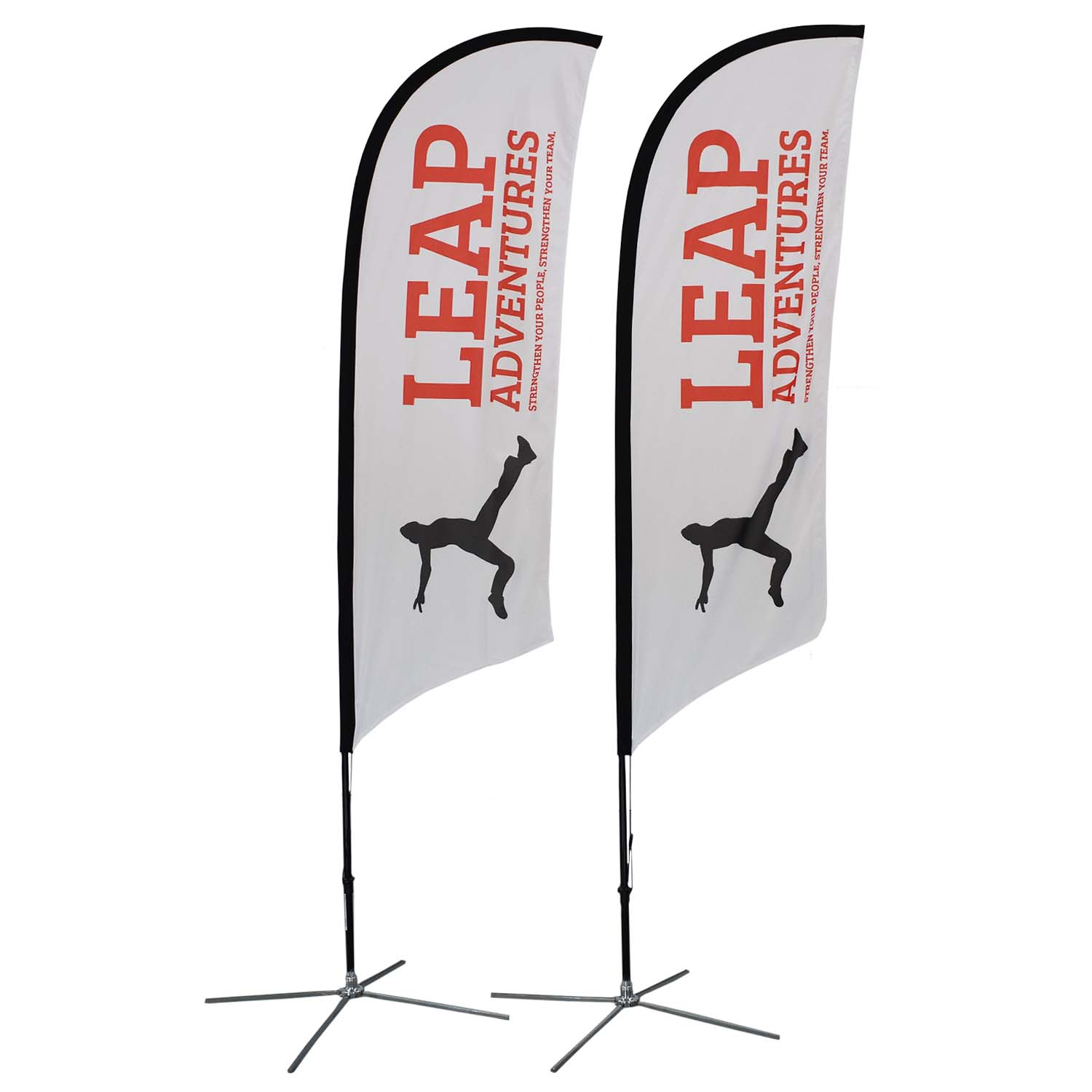 Leap Adventure Soft Signs Custom Flags