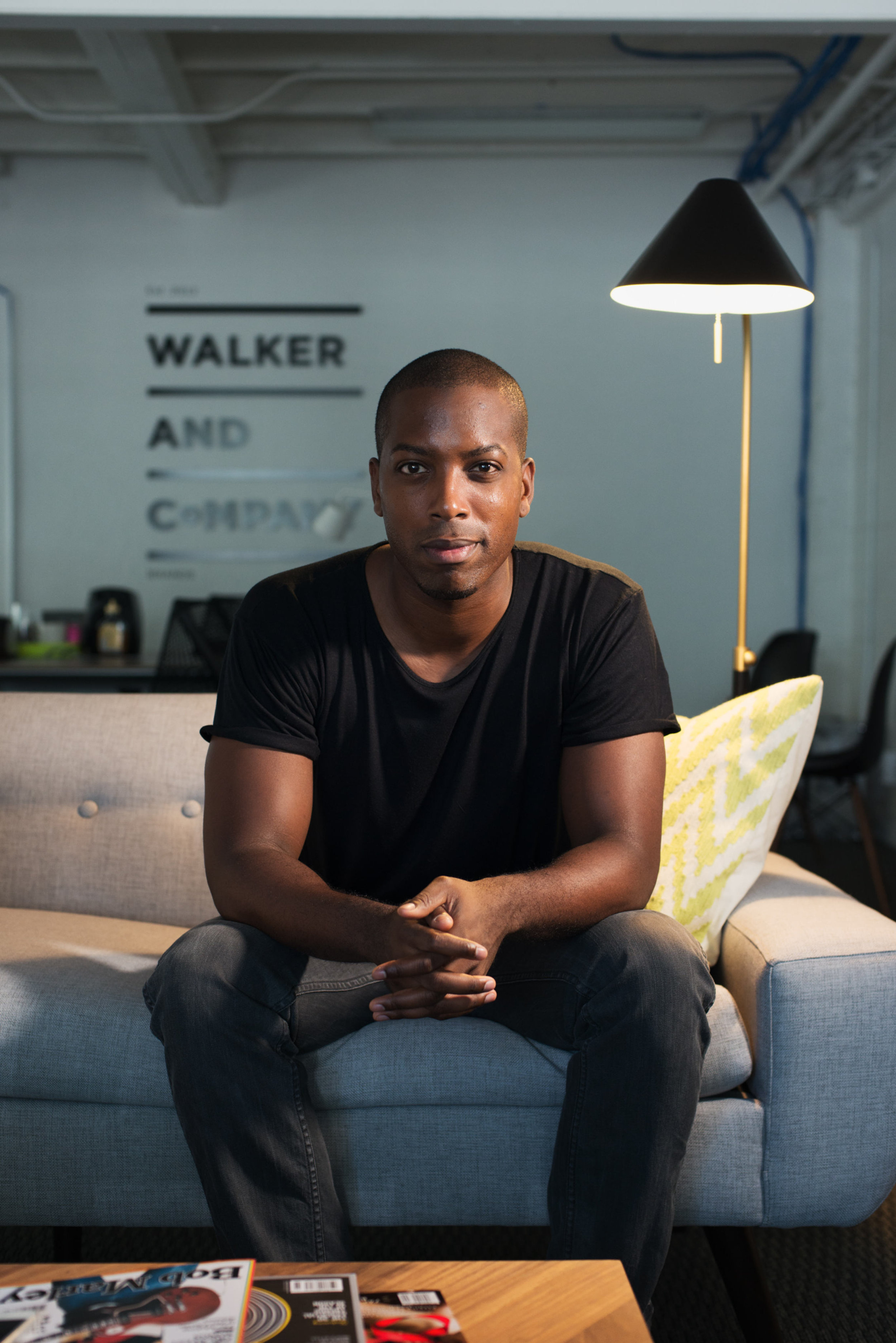 Profile on Tristan Walker, an African-American entrepreneur known for being the head of business development at Foursquare and an advocate for racial diversity in the Silicon Valley Tech world. Now he's focusing on his start-up Walker and Co., which aims to transform health and beauty for people of color. Photographed for Fast Company Magazine