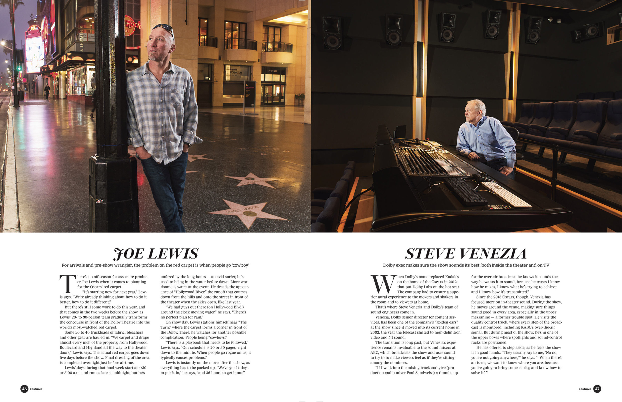 Portfolio of Oscar Artisans: the men and women who work behind the scene of the 2015 Academy Awards. Photographed for Variety Magazine.