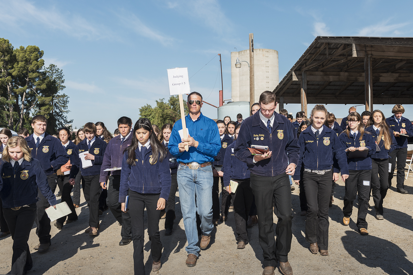 The California Future Farmers of America is trying to bring in more Latino students into the program, with hopes developing an interest in careers in agriculture, as half of all farm laborers and operators in the U.S. are Hispanic. I photographed the 2015 California FFA state championship at Fresno State University for Bright, Medium's education platform.