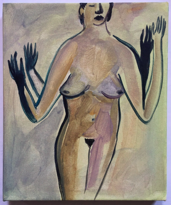 Untitled (woman with raised arms)