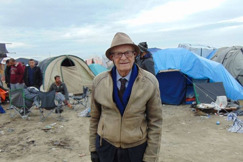 Harry at the 'Jungle' refugee camp in Calais, France