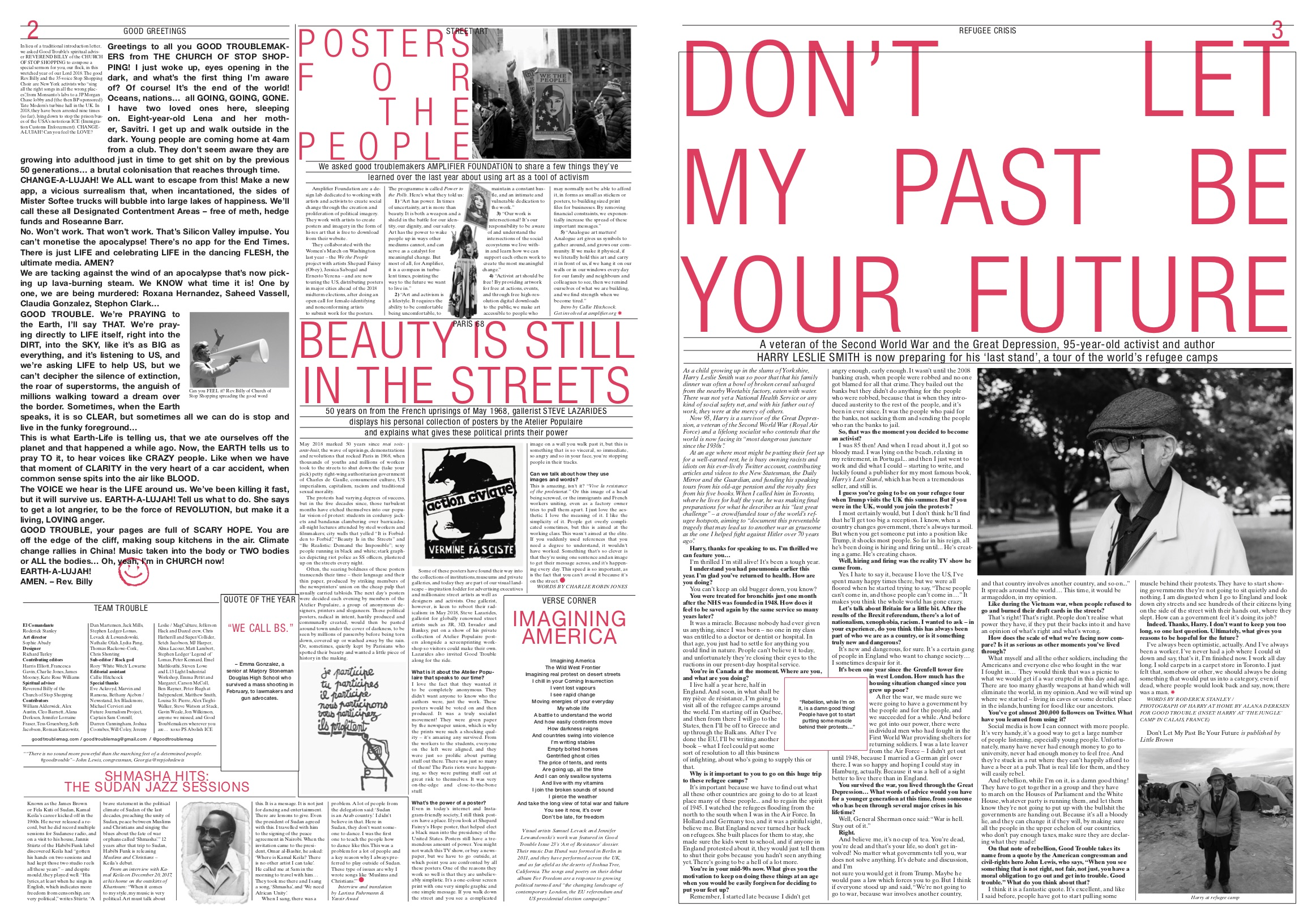 Pages from Good Trouble 'Issue 22'