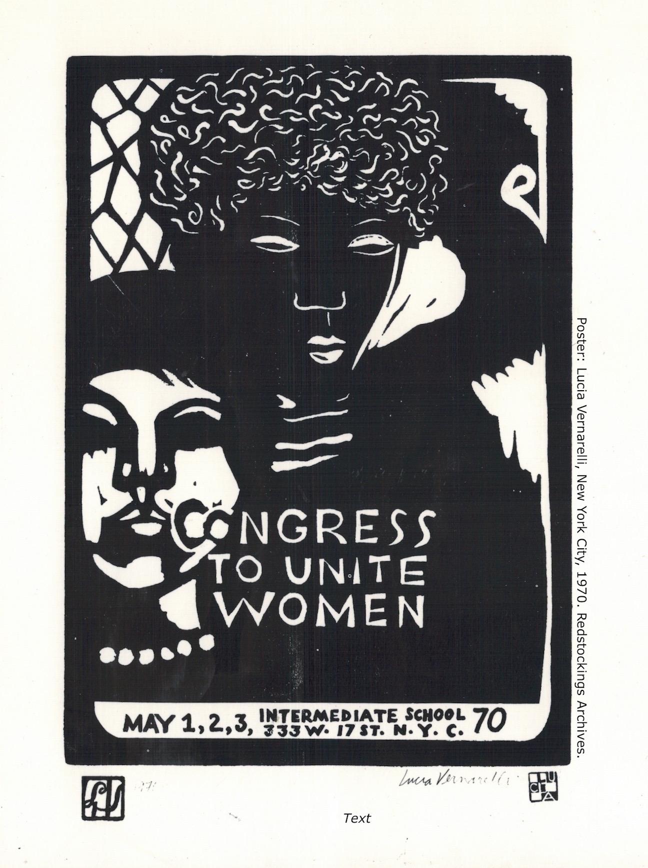 5. Lucia Vernarelli, New York City, 1970. Redstockings Archives