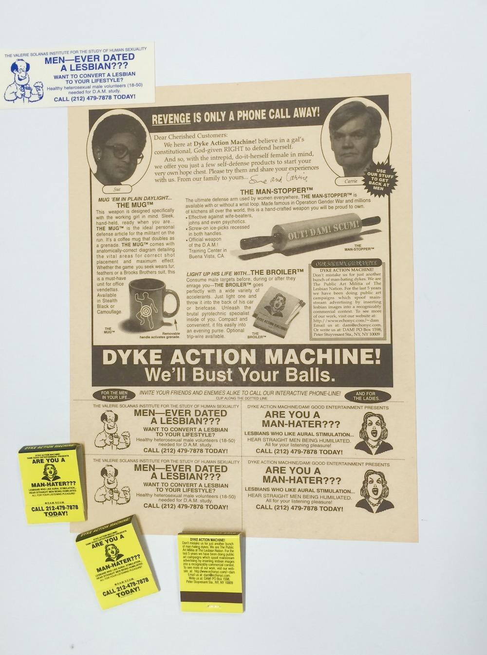 Dyke Action Machine, DAM SCUM, 1996. Courtesy of Dyke Action Machine! (Carrie Moyer and Sue Schaffner)
