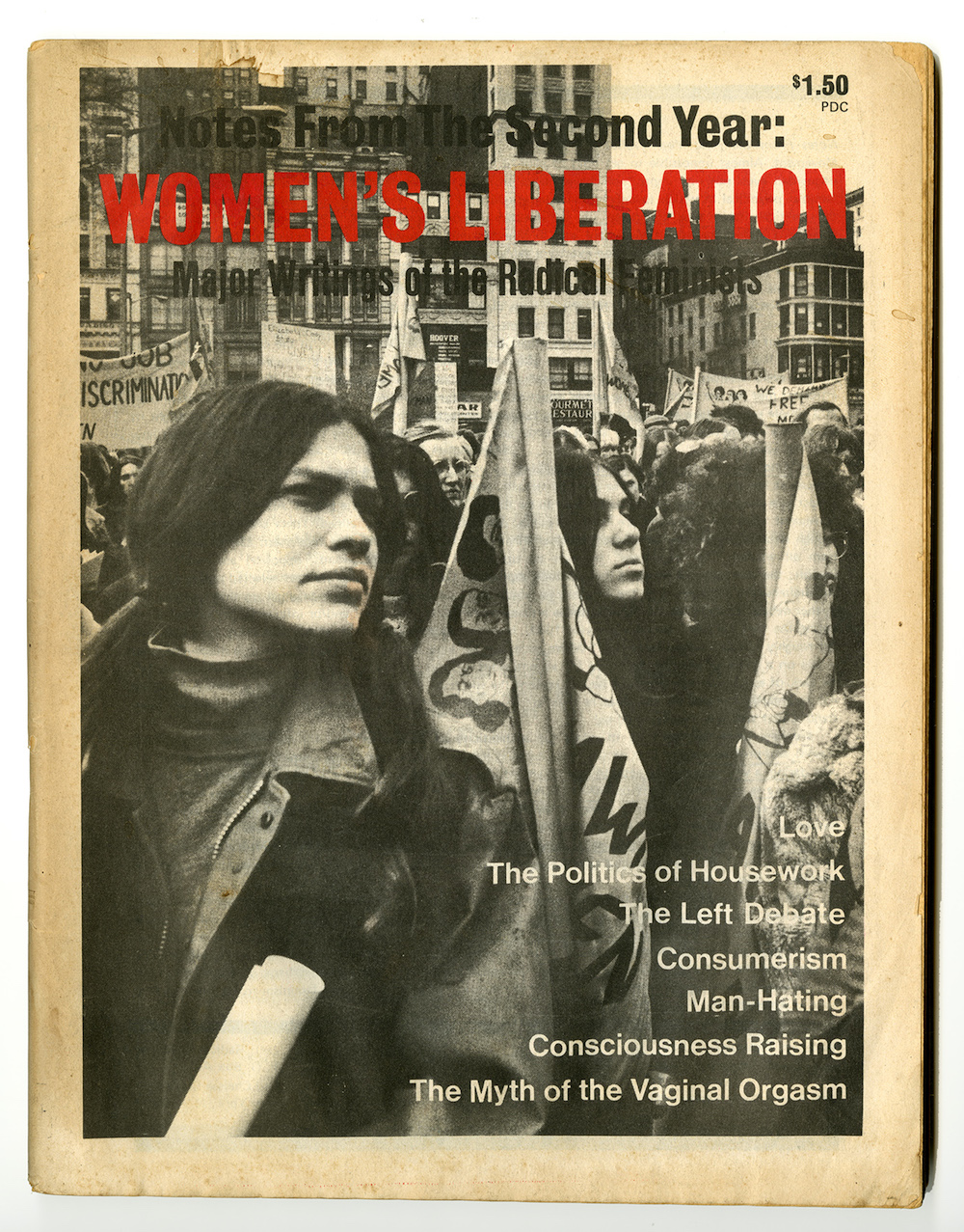 Cover of  Notes from the Second Year: Women's Liberation , 1970.