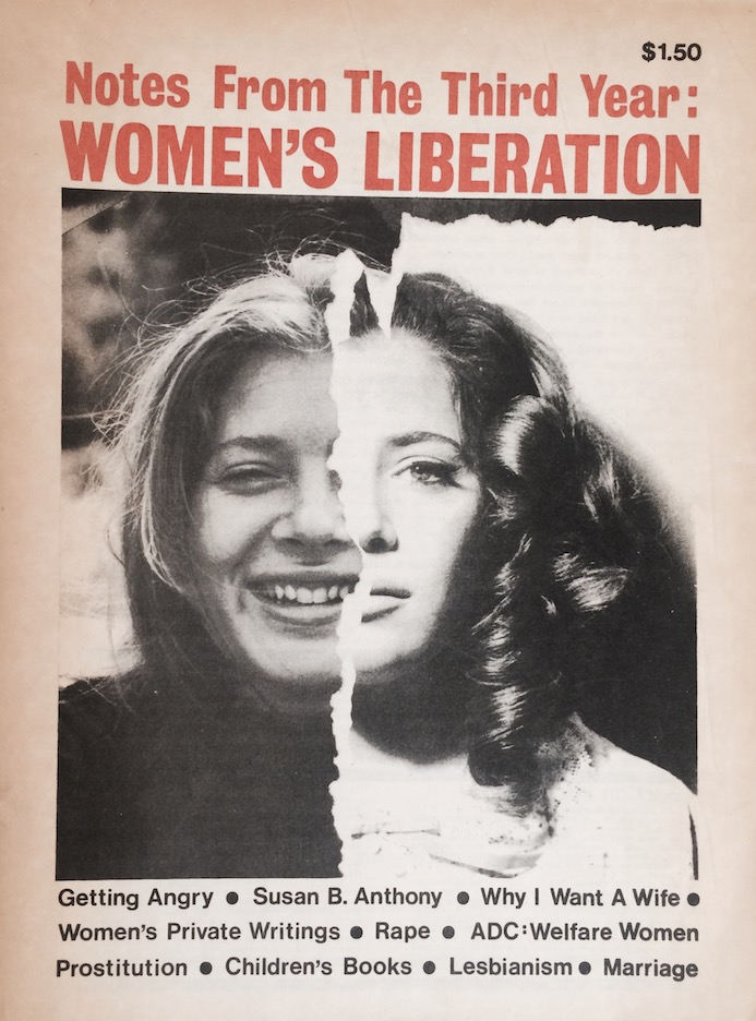 New York Radical Women, Notes from the Third Year, 1971.