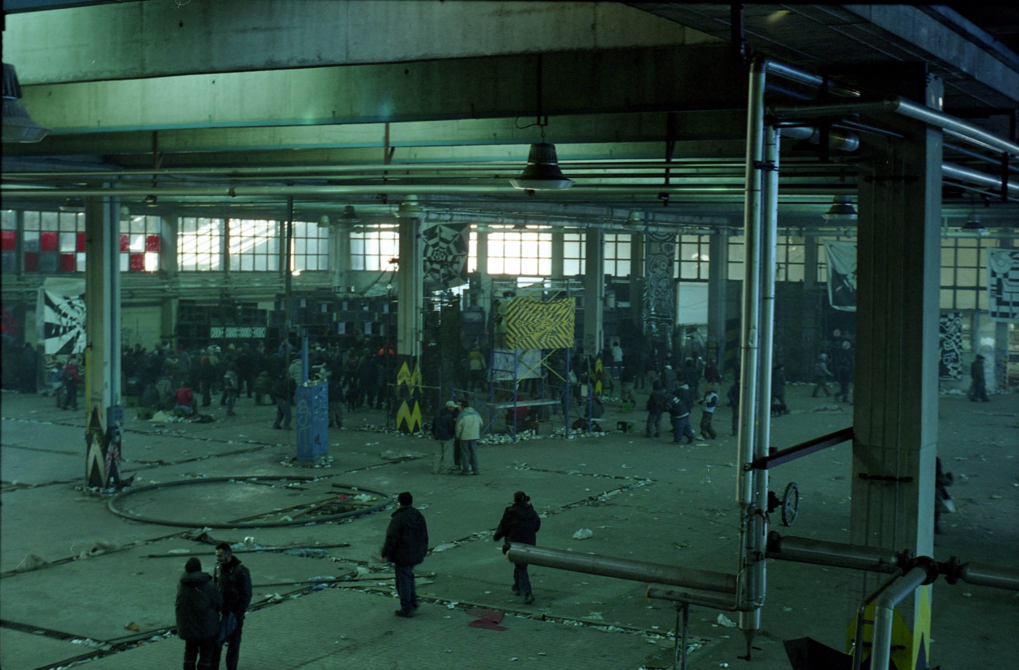 New Years aftermath, abandoned factory, Rome, 2002