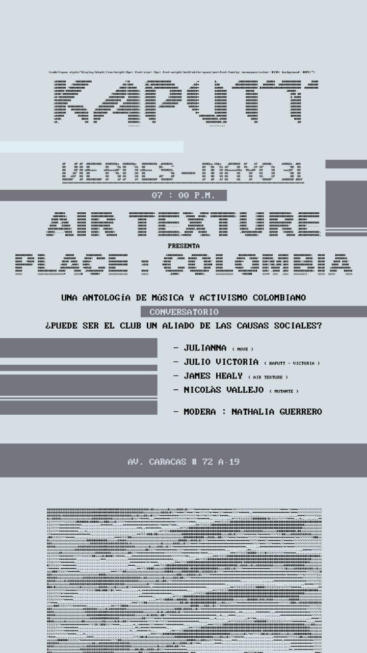 Poster for upcoming roundtable and dance event in Caracas on May 31st.