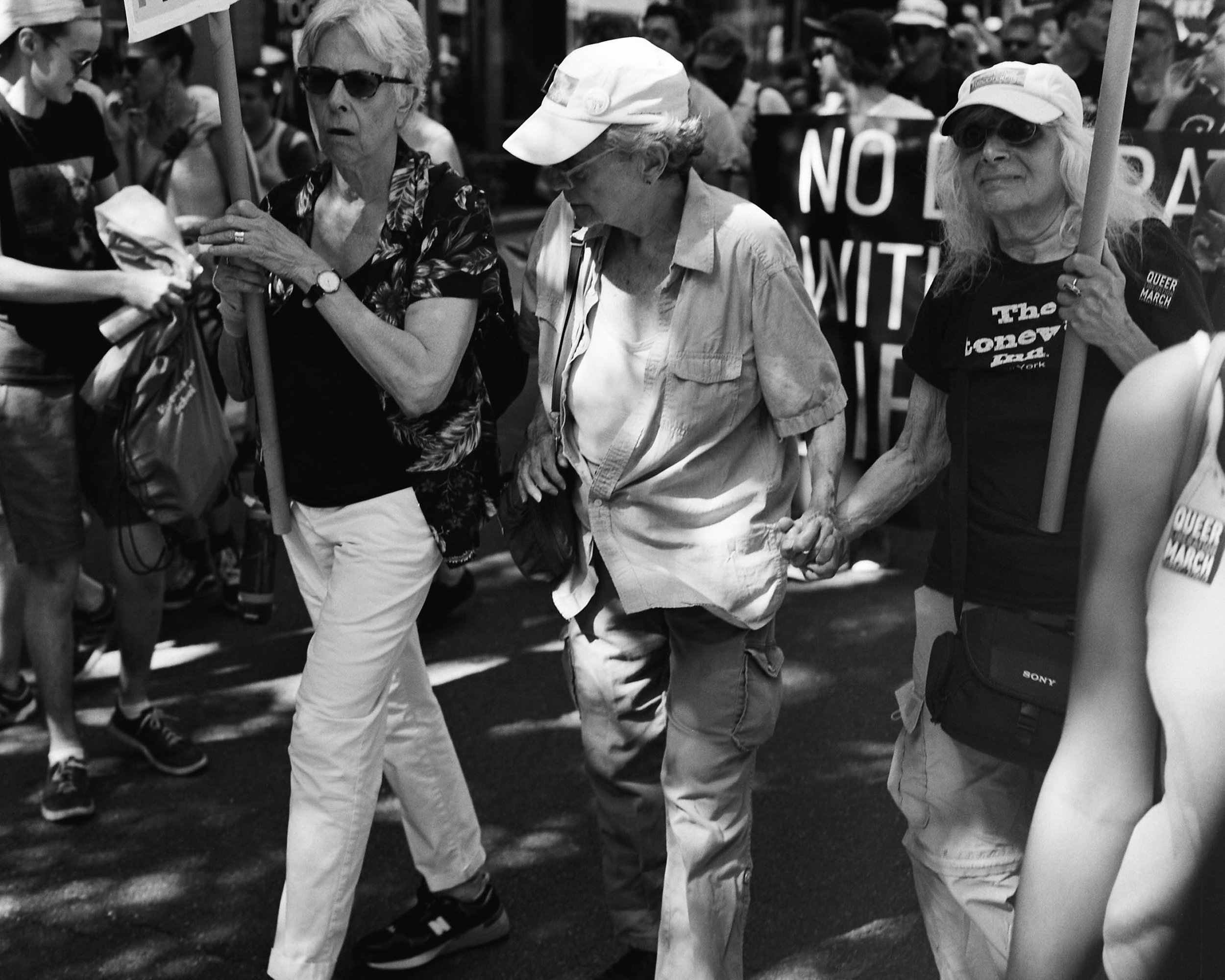 Three original protesters from the Stonewall Rebellion