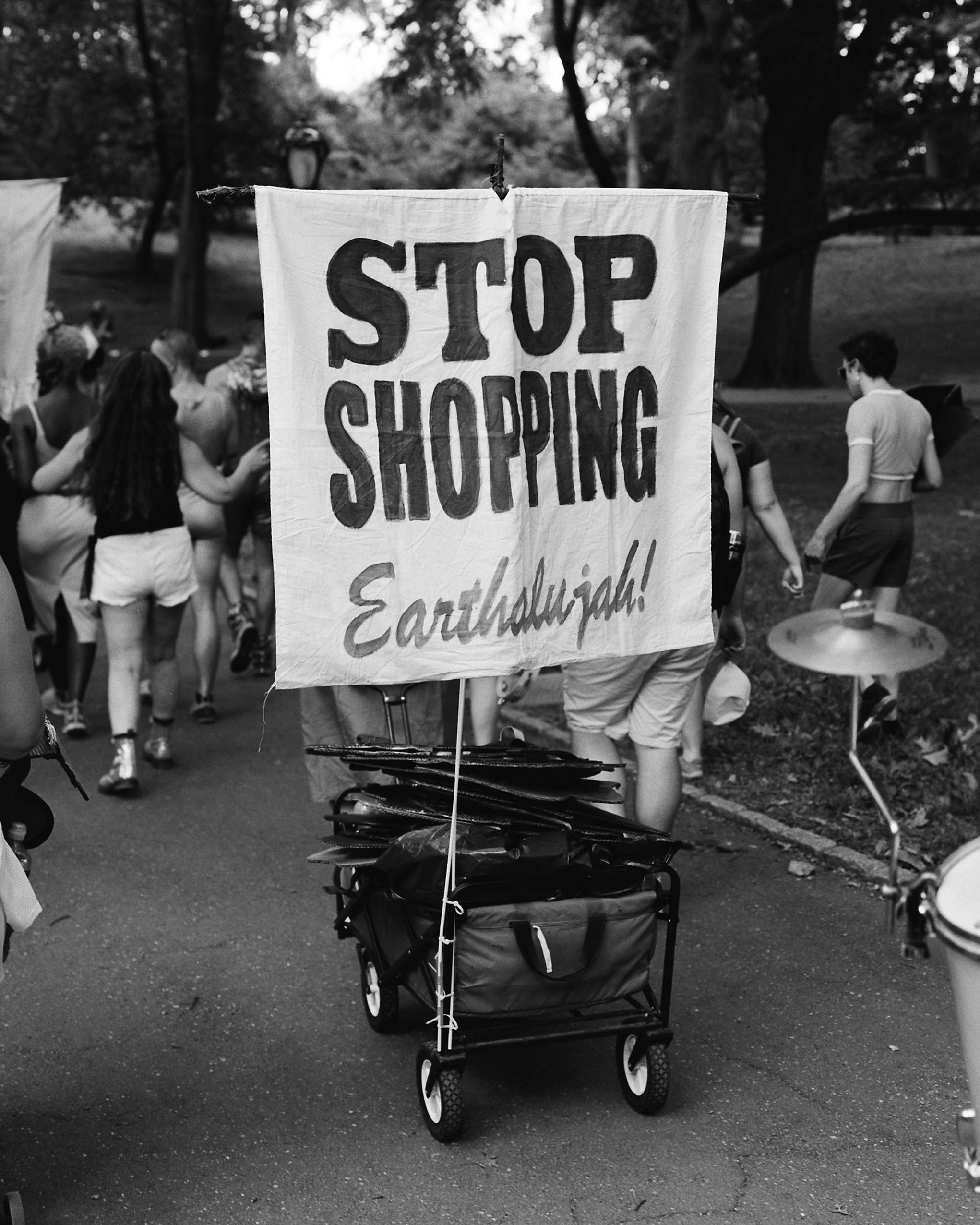 Reverend Billy and the Stop Shopping Choir is a New York City based Earth-defending performance community, Earthalujah!