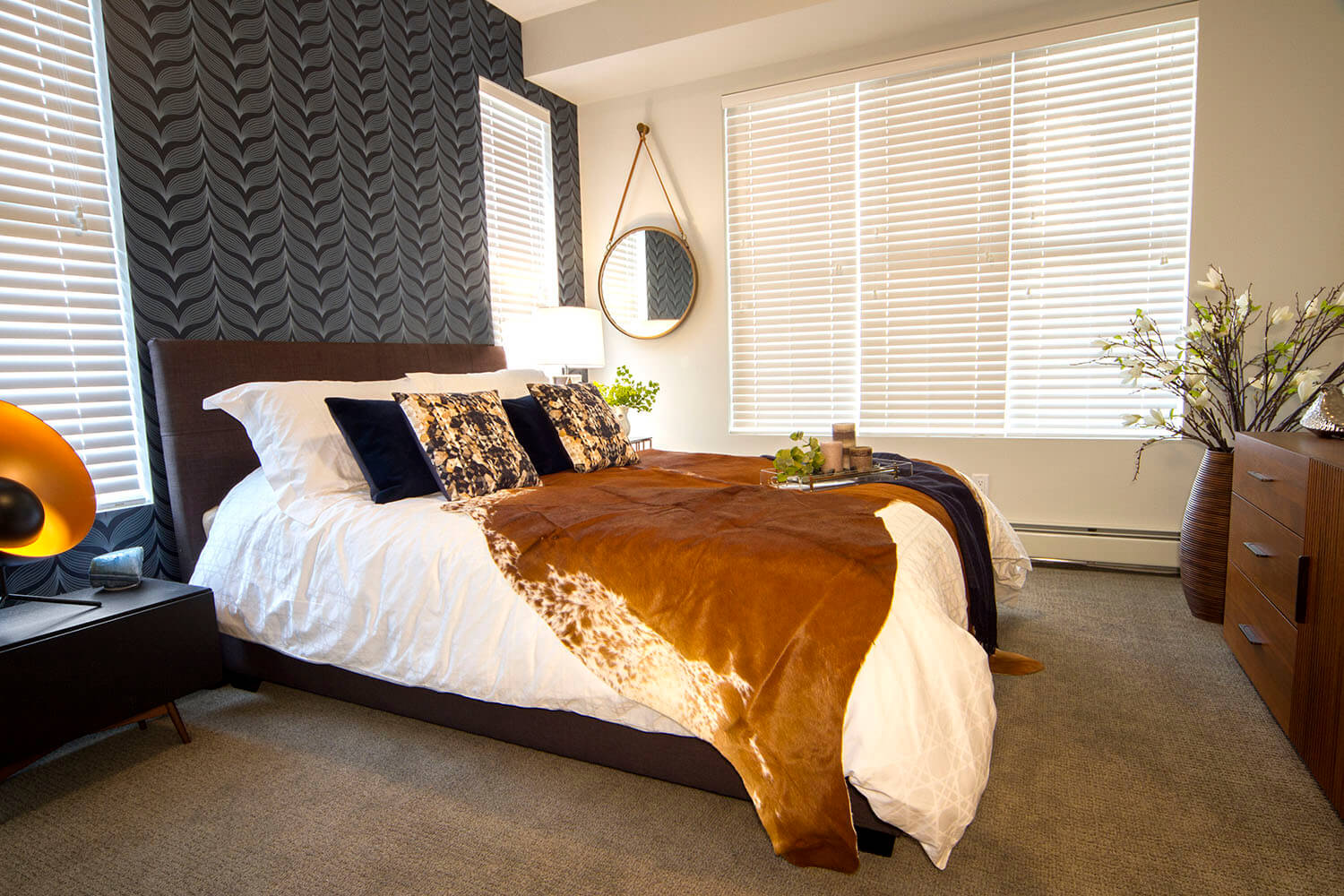 Calgary's Axess condoswith bedroom by Porada Design for Slokker