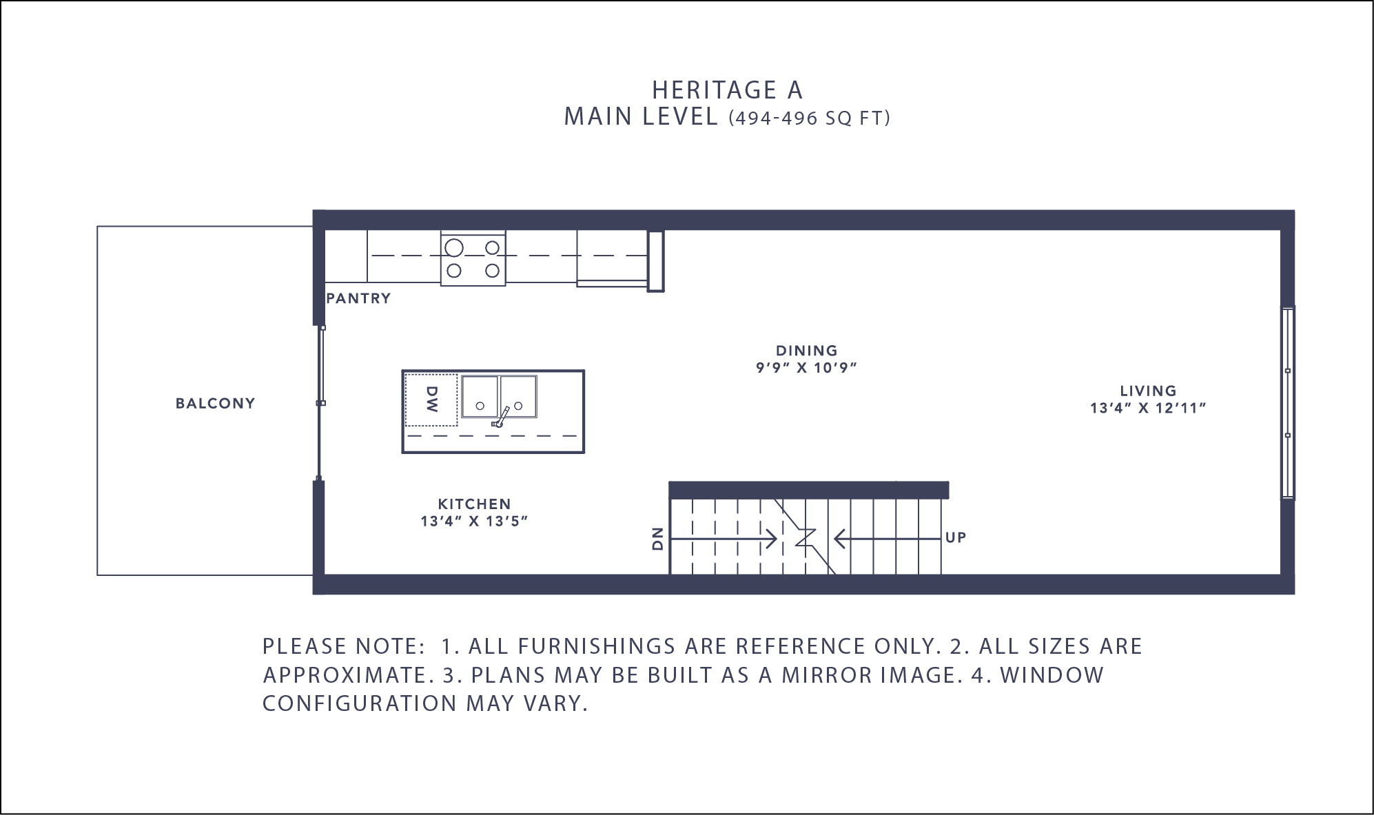 Heritage A Floorplan - Main Level