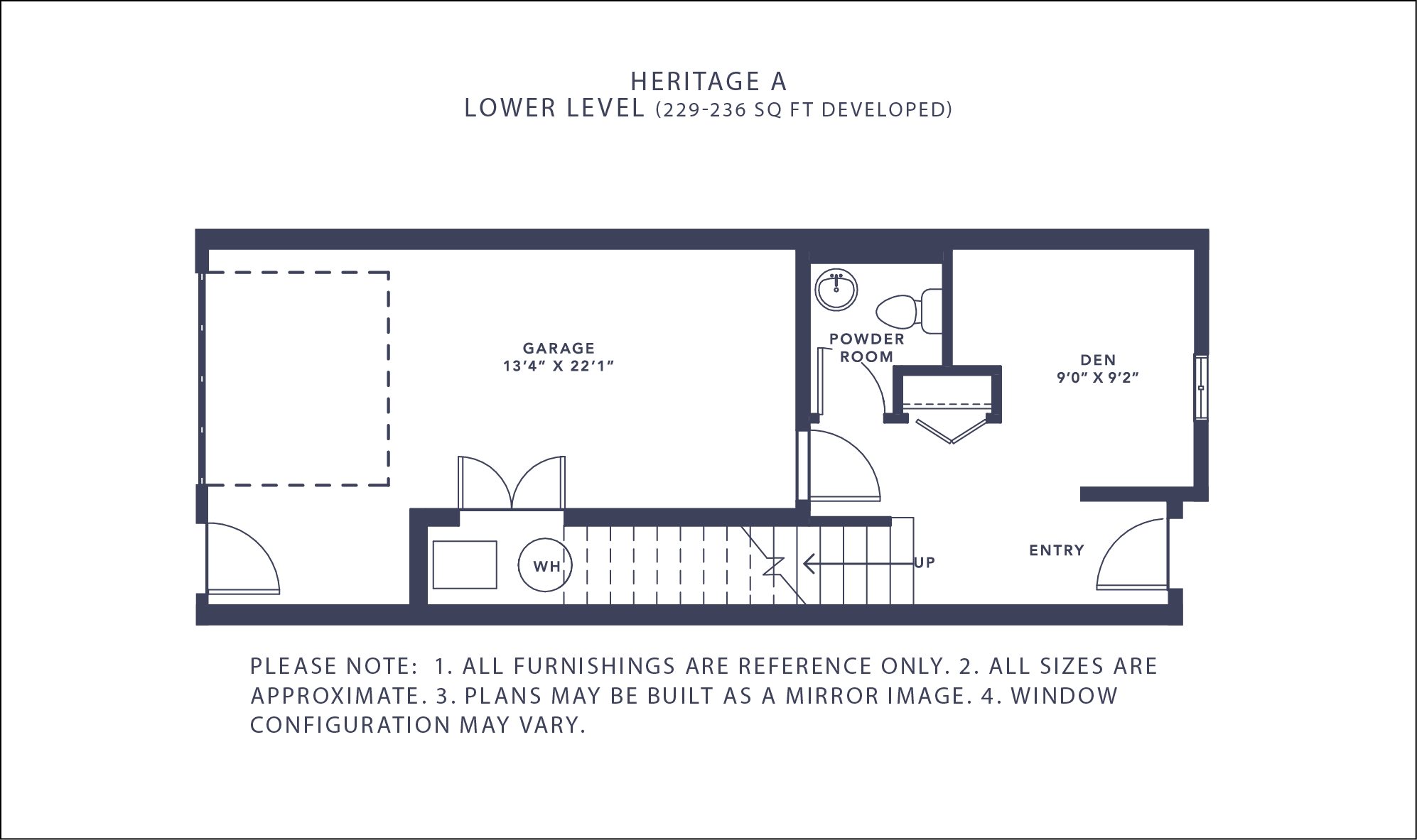 Heritage A Floorplan - Lower Level