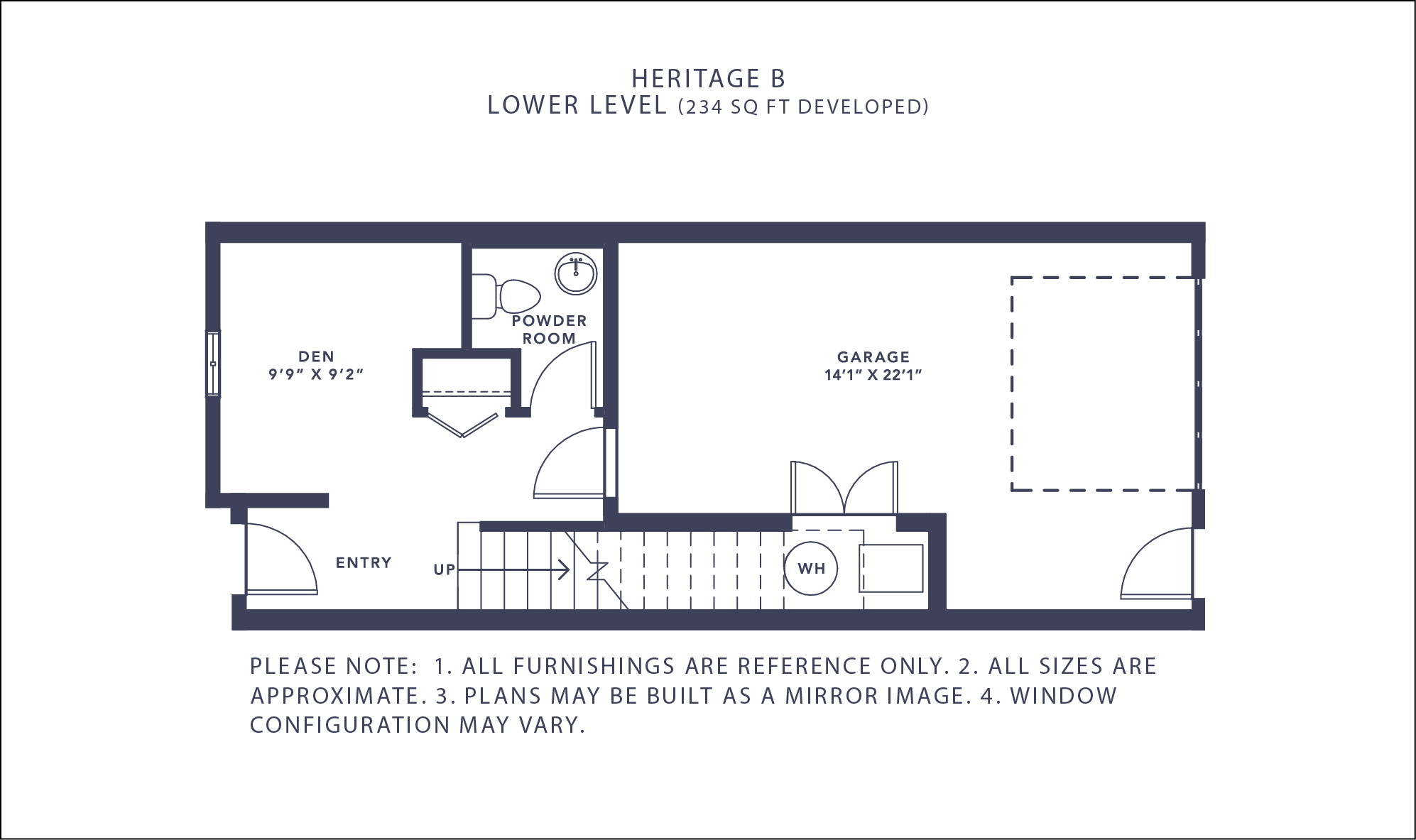 Heritage B Floorplan - Lower Level