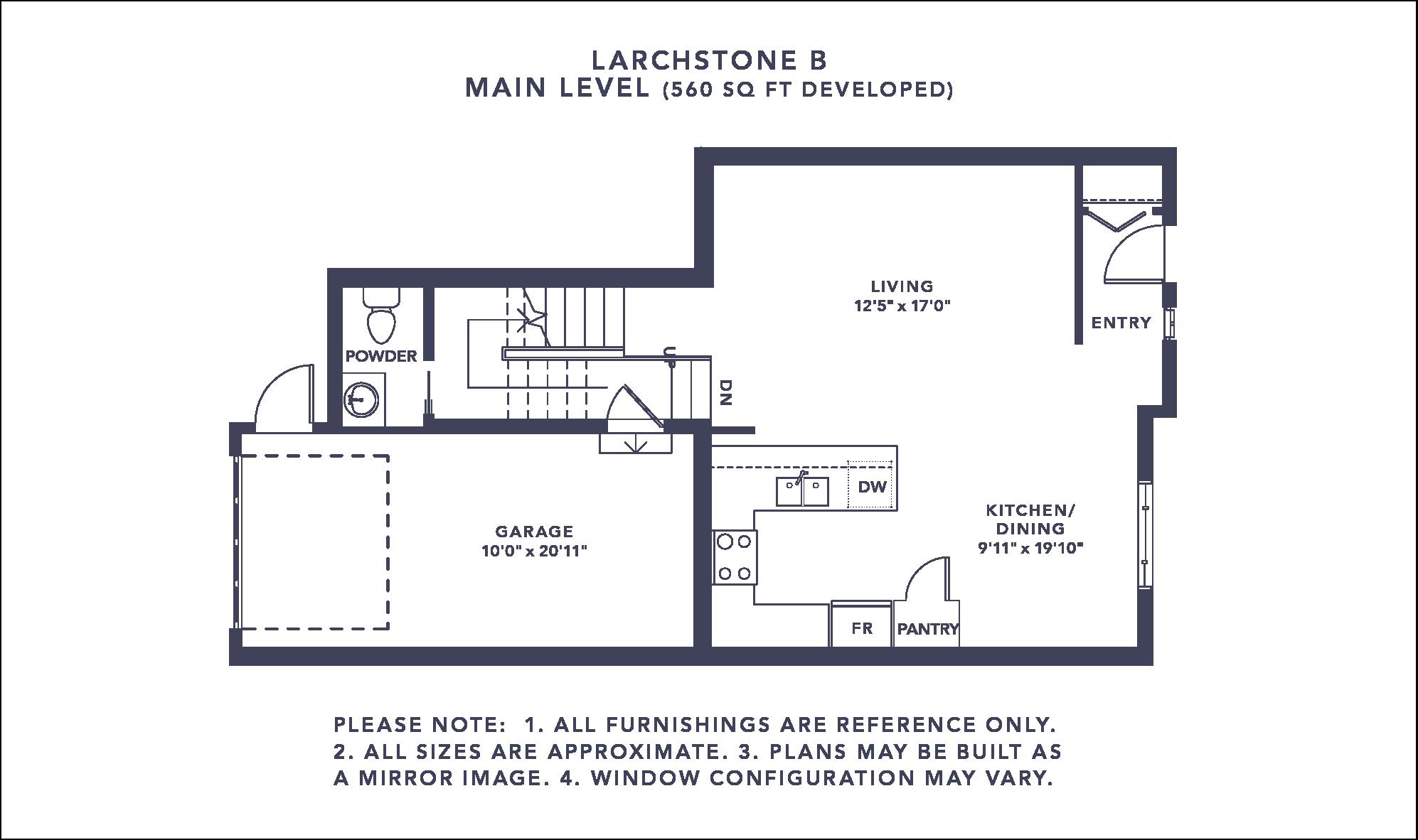Larchstone B Floorplan - Main Level