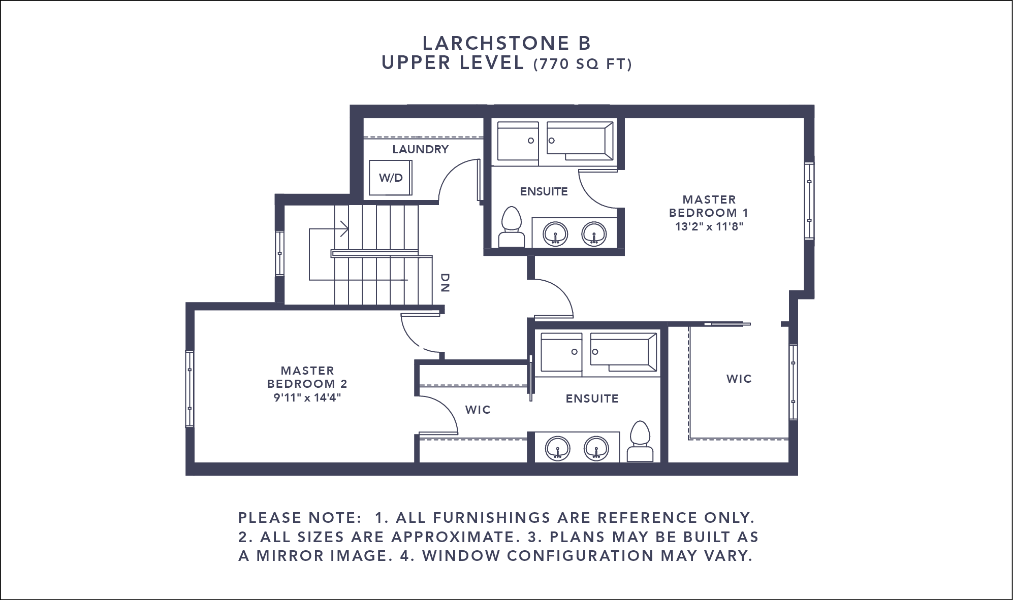 Larchstone B Floorplan - Upper Level