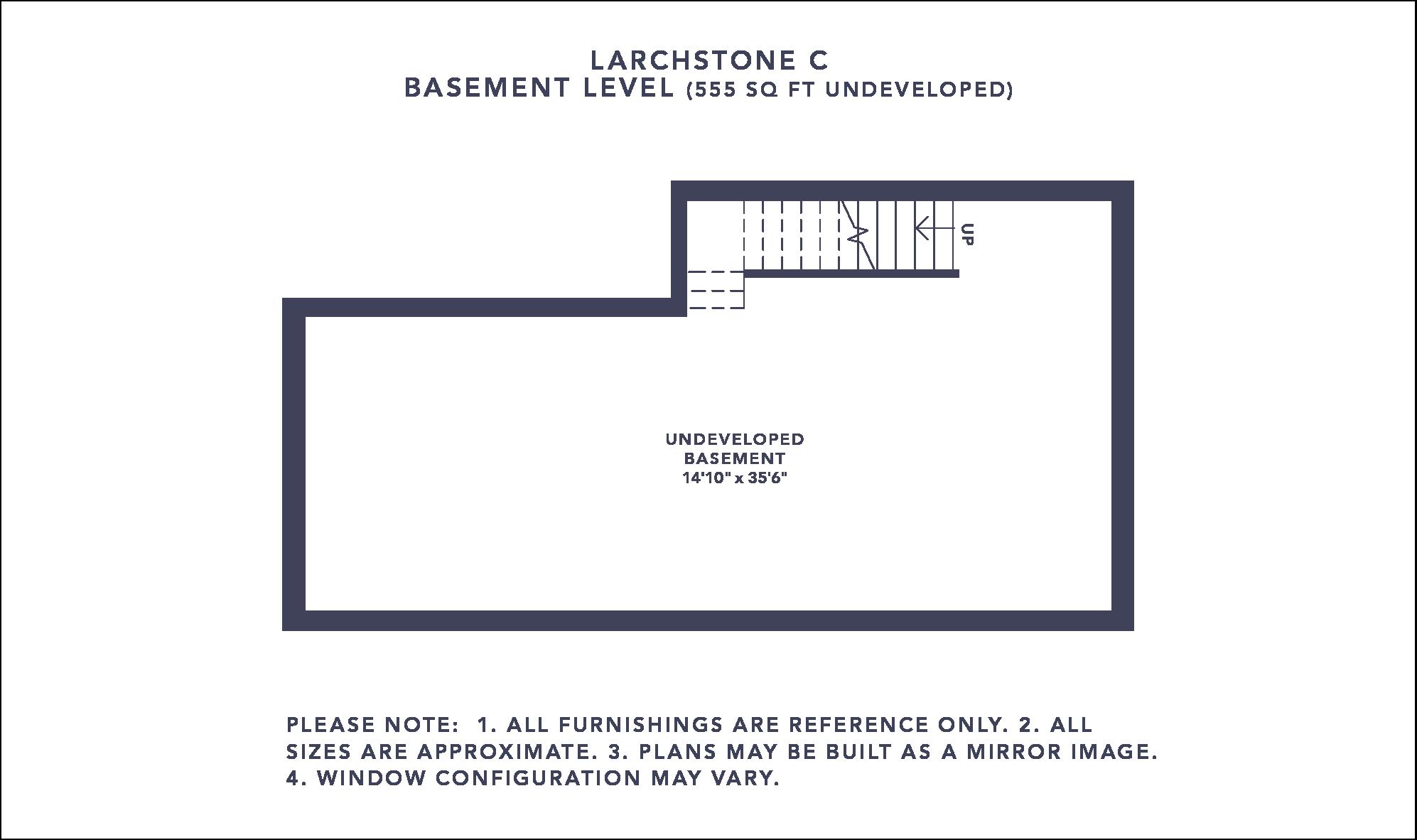 Larchstone C Floorplan - Basement Level