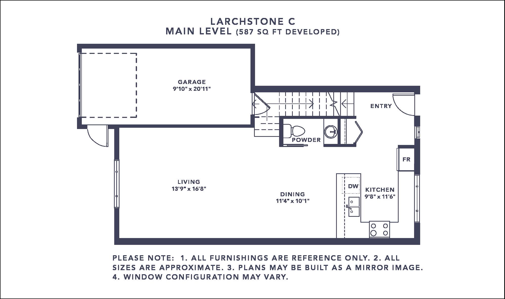 Larchstone C Floorplan - Main Level