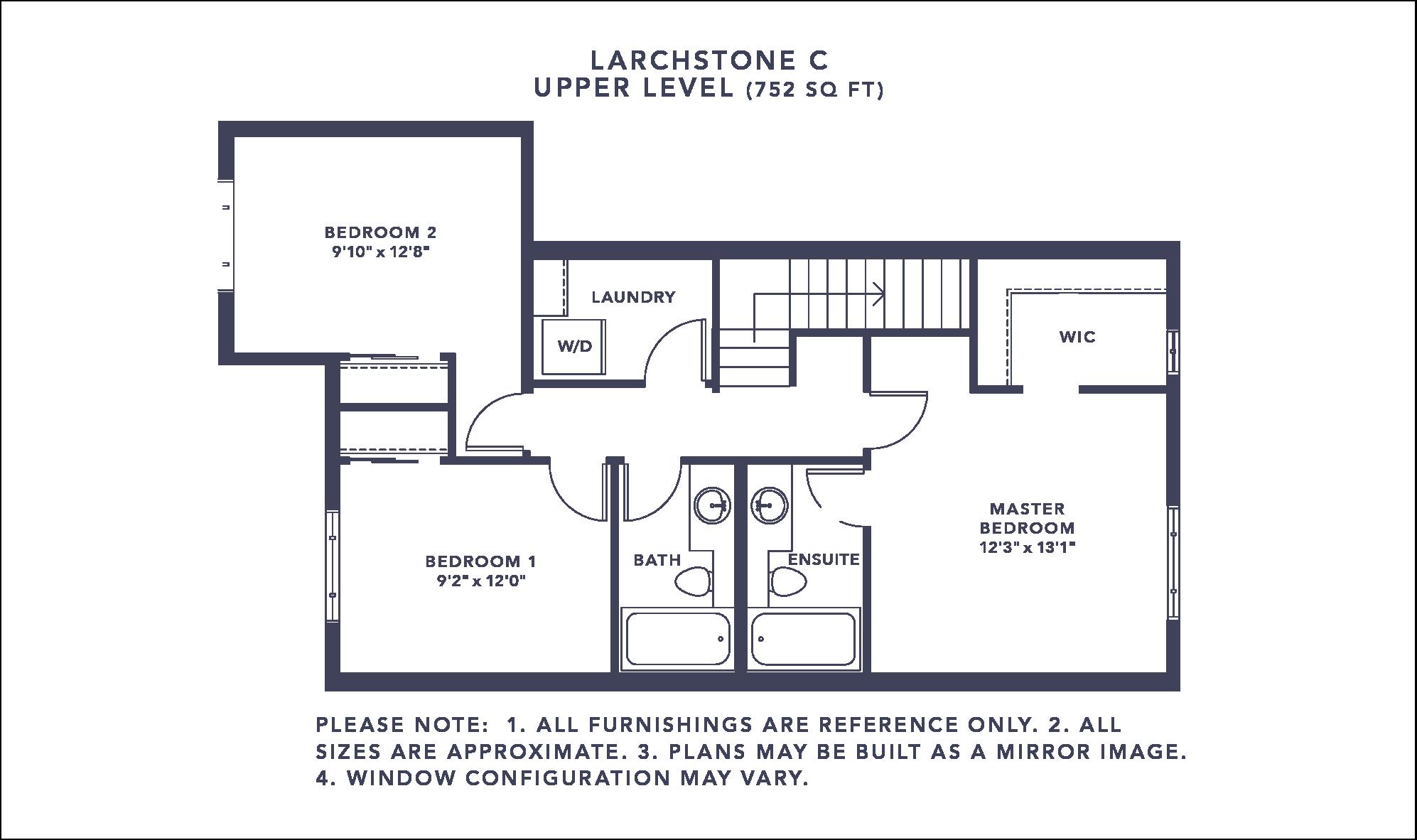 Larchstone C Floorplan - Upper Level