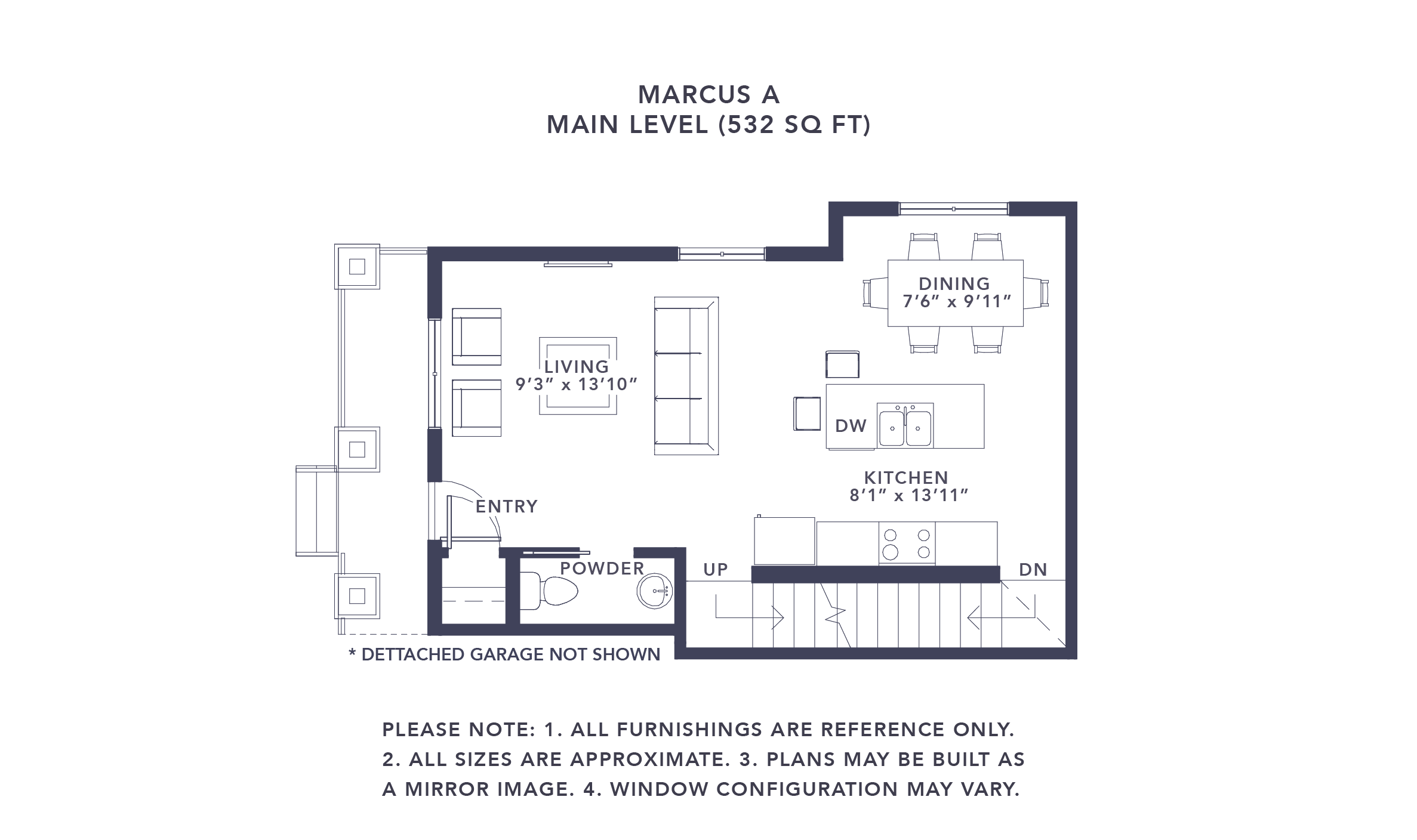 Airdrie Townhome Floorplan Marcus A