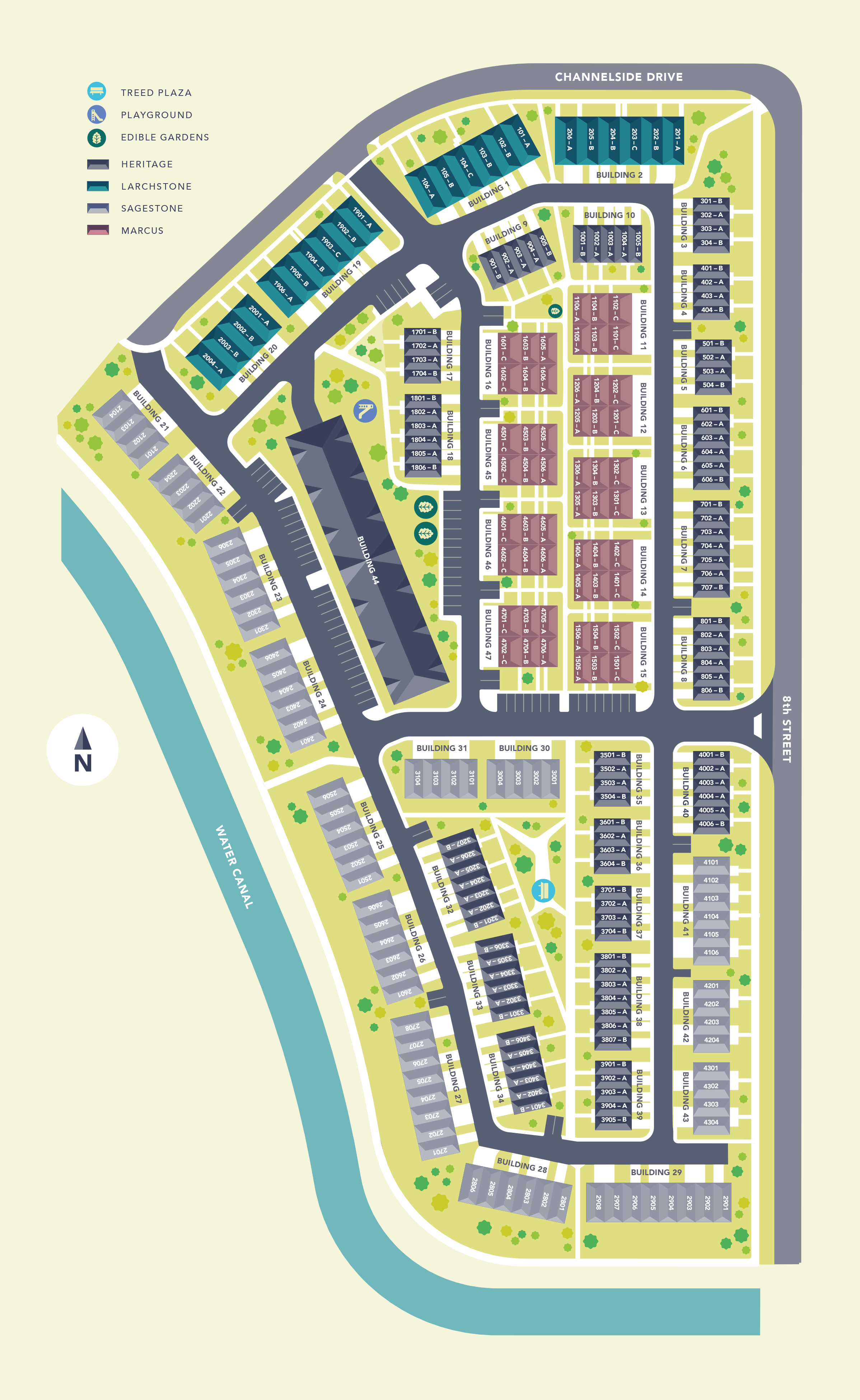Canals Townhomes Site Plan