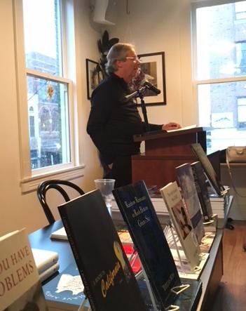 Author Paul Dimond at Literati, Ann Arbor, MI. April 9, 2018.