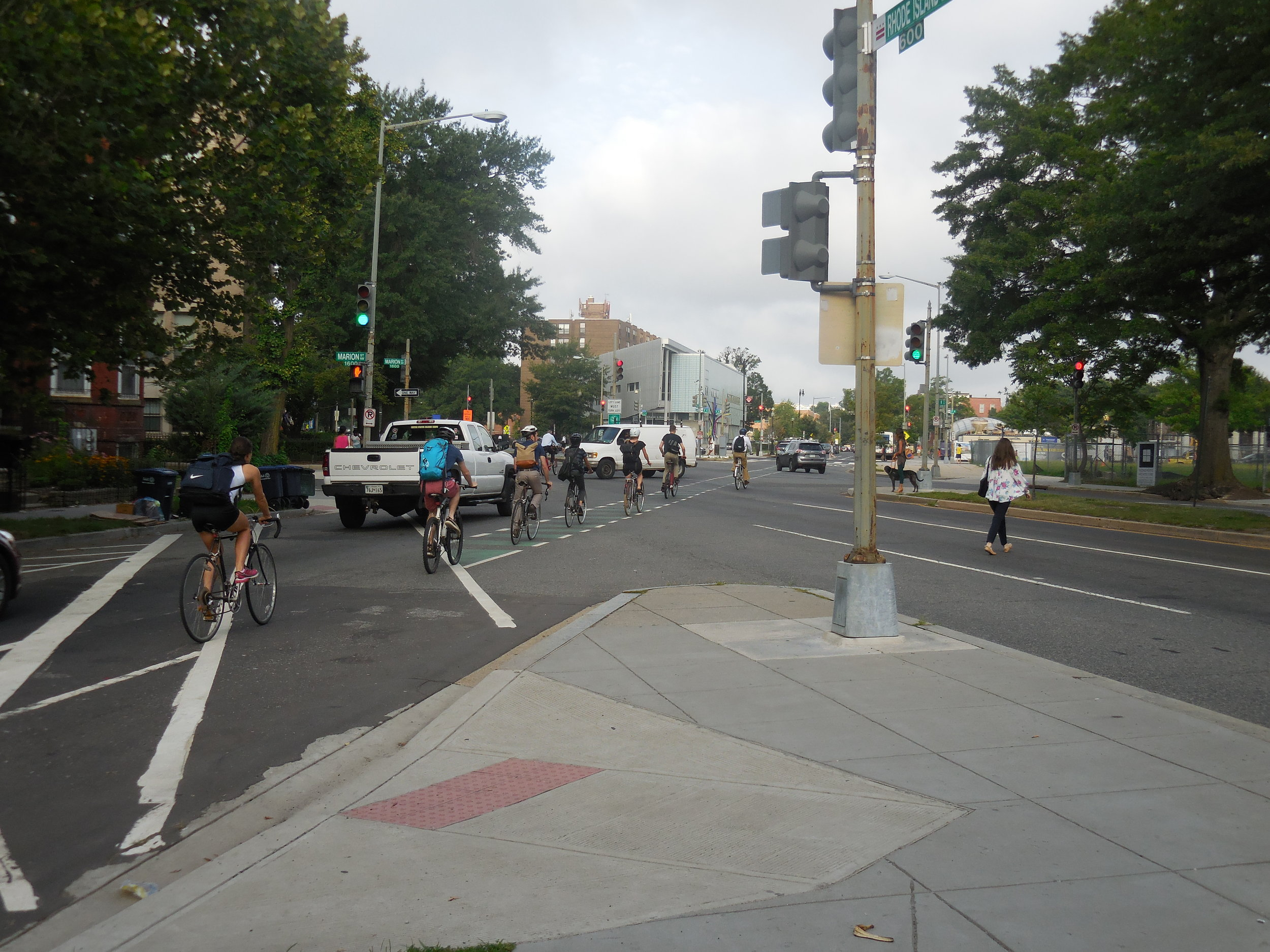 Biking down R Street