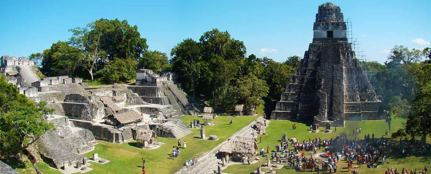 Ancient Mayan City of Tikal, located in present day Guatemala.