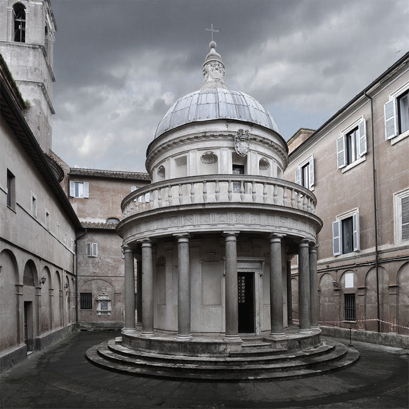 The Tempietto, designed by Baroque architect Donato Bramante, is the ancestor to just about every significant domed building that has come after it including the dome of St. Peter's in Rome, St. Paul's in London, and the US Capitol Building.