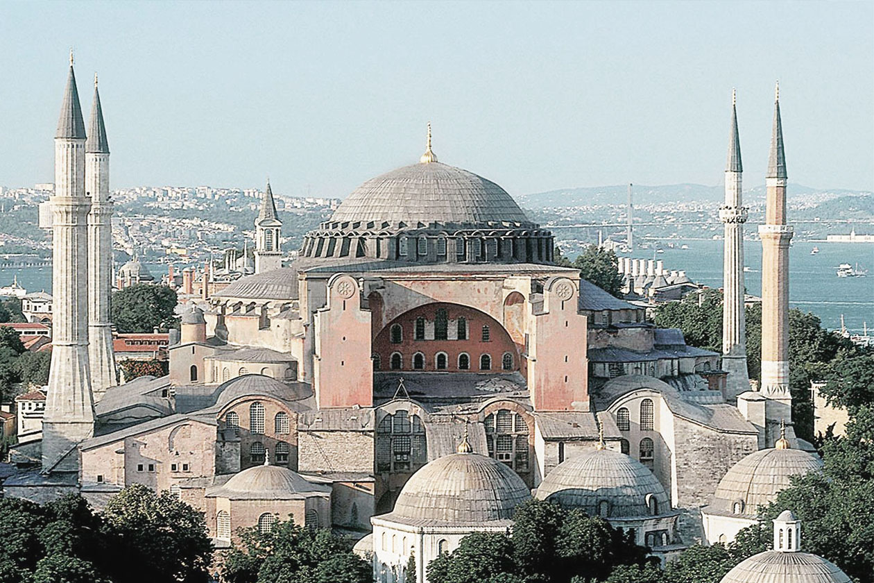 Hagia Sophia in Constantinople (Now Istanbul) is the largest circular plan church ever built. Located in an active earthquake zone, engineers still wonder how people of the day were able to build such a structure.It was built in the 6th Century and is the crown jewel of Byzantine/Eastern Orthodox Christian Architecture.