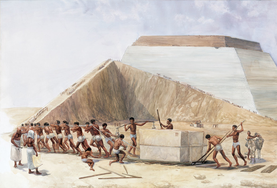 """Ancient monuments were often the visions of rulers and their """"master builders"""". What we would call drawings today, did not exist in the time of the ancients.The masterpieces they left behind are the result of trail and error.Architects in these days were infact builders and coordinators of skilled tradesmen."""