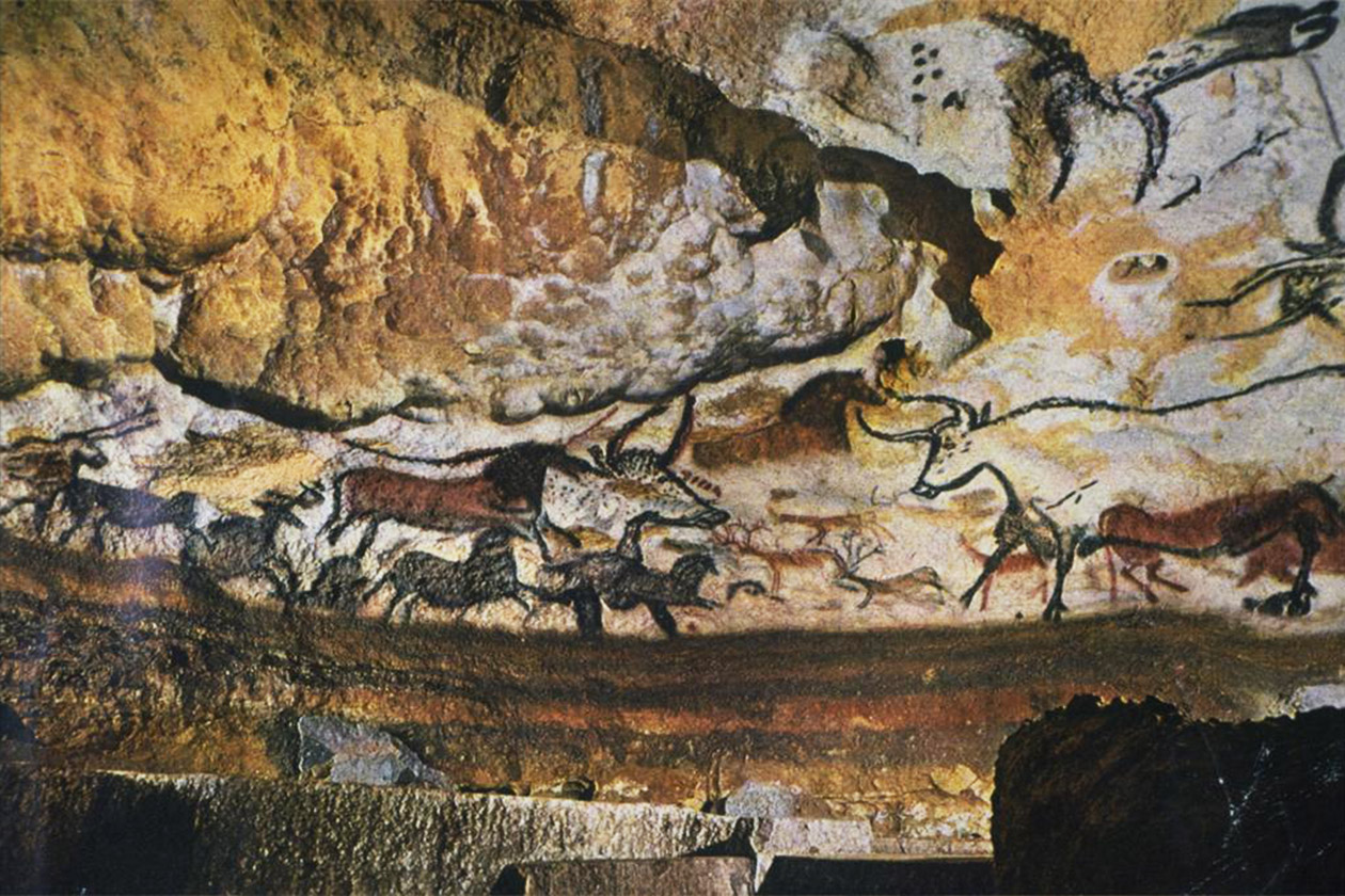 Early cave paintings from Northern Europe