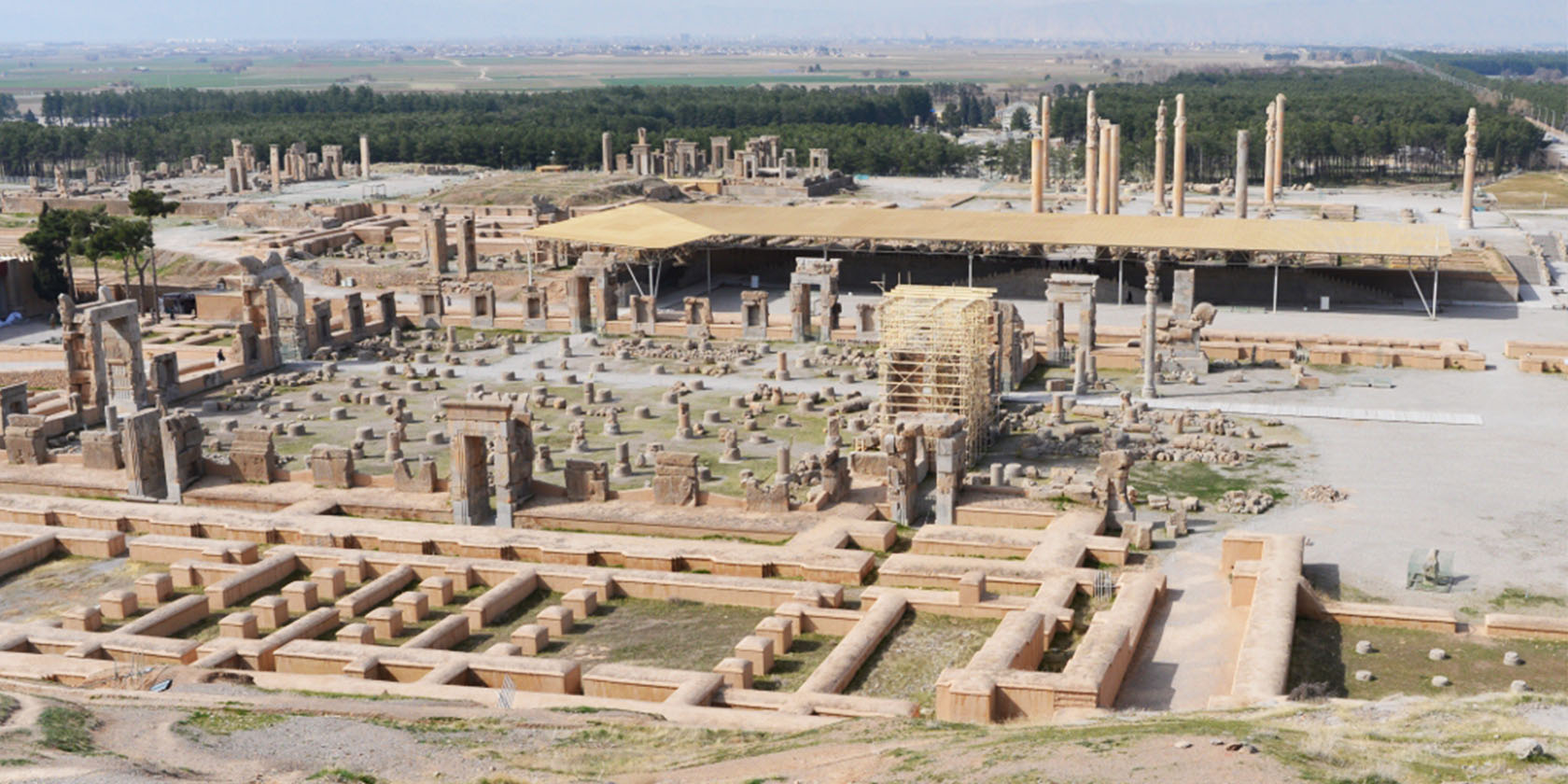 The ruins of the ancient Persian Capital of Persepolis, a massive and expansive structure of freestanding columns. With regards to architecture, the ancient Persians where masters of construction. Their focus was on appearance and ornament. One can assume that this mode of thinking would set the tone for future civilizations that would develop in the area, mainly in the Arab world.