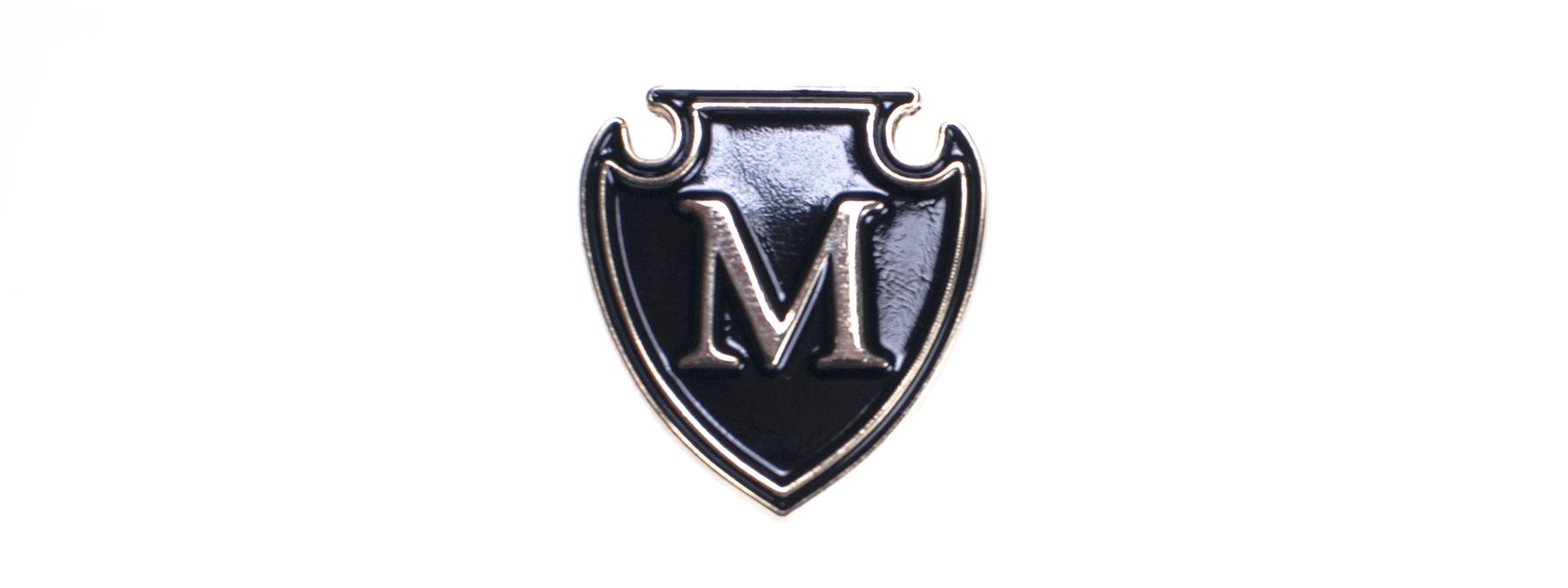Lapel Pins: Shield icon.