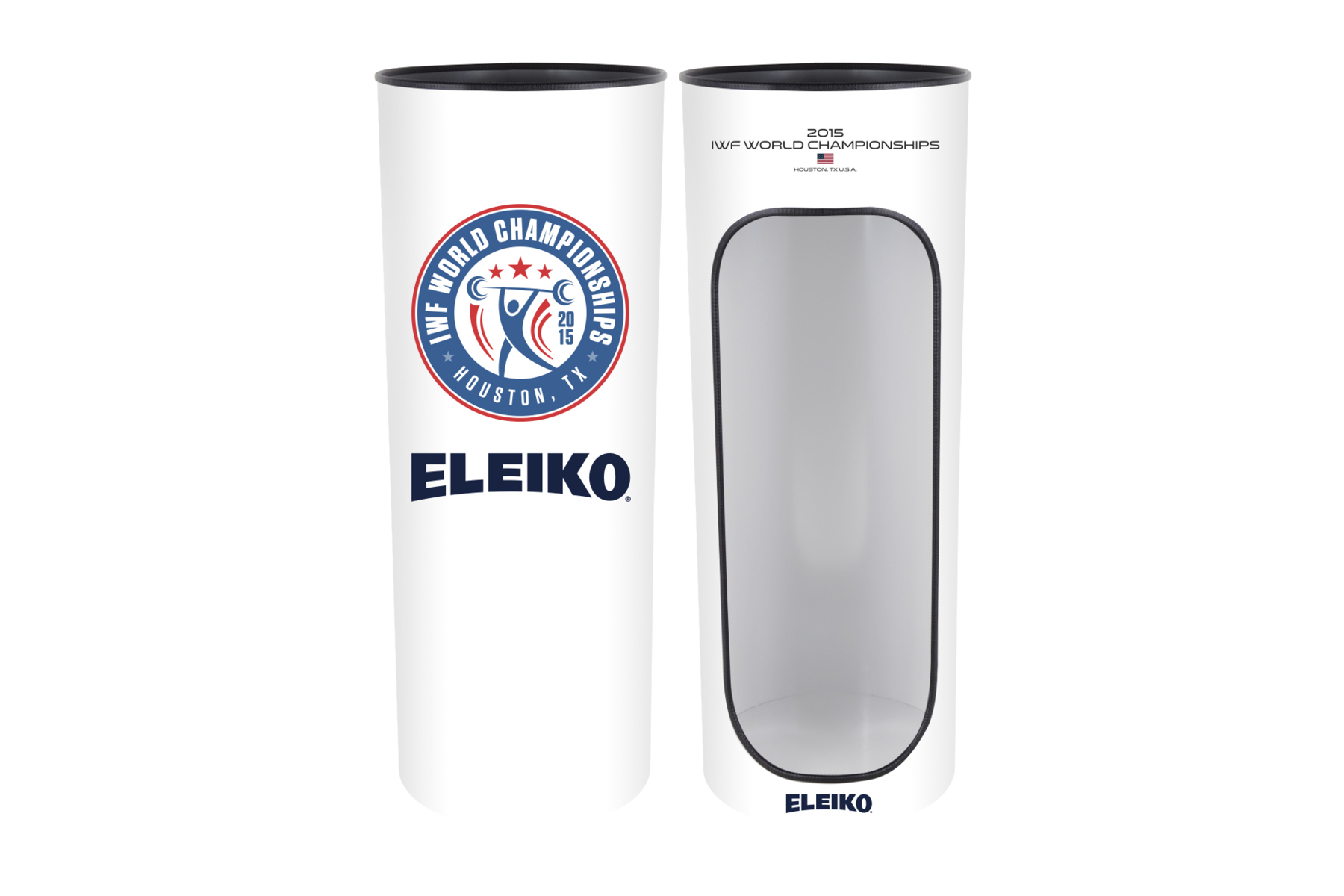 Co-branded magnesium stands.