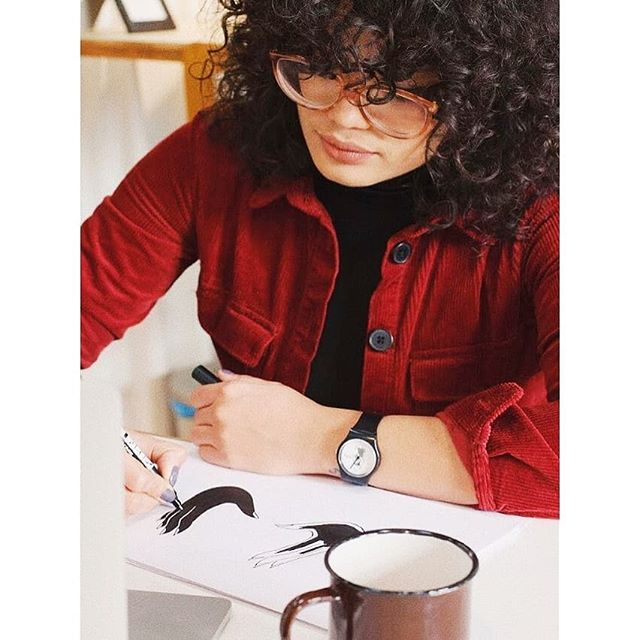 Thank you for keeping us busy since we came back from holidays 😂❤️ & thank you @verocassiani_ for this picture wearing your design May28th custom watch 😍😍 #may28th #may28thwatches #customwatch #custommerch #madeinbarcelona