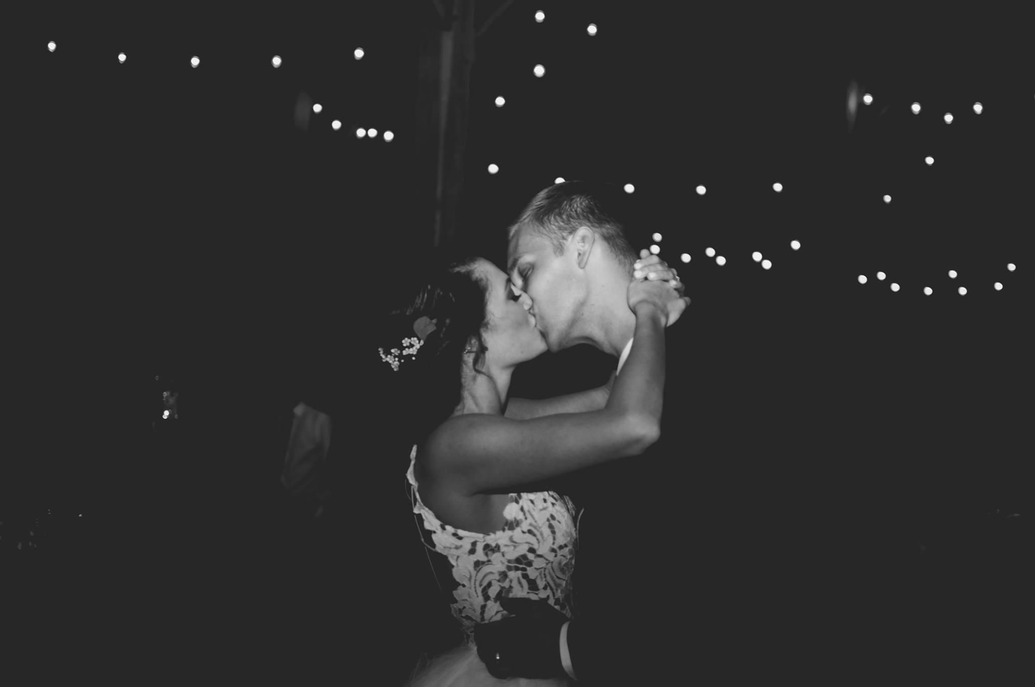 eric and missy b&W kiss.jpg
