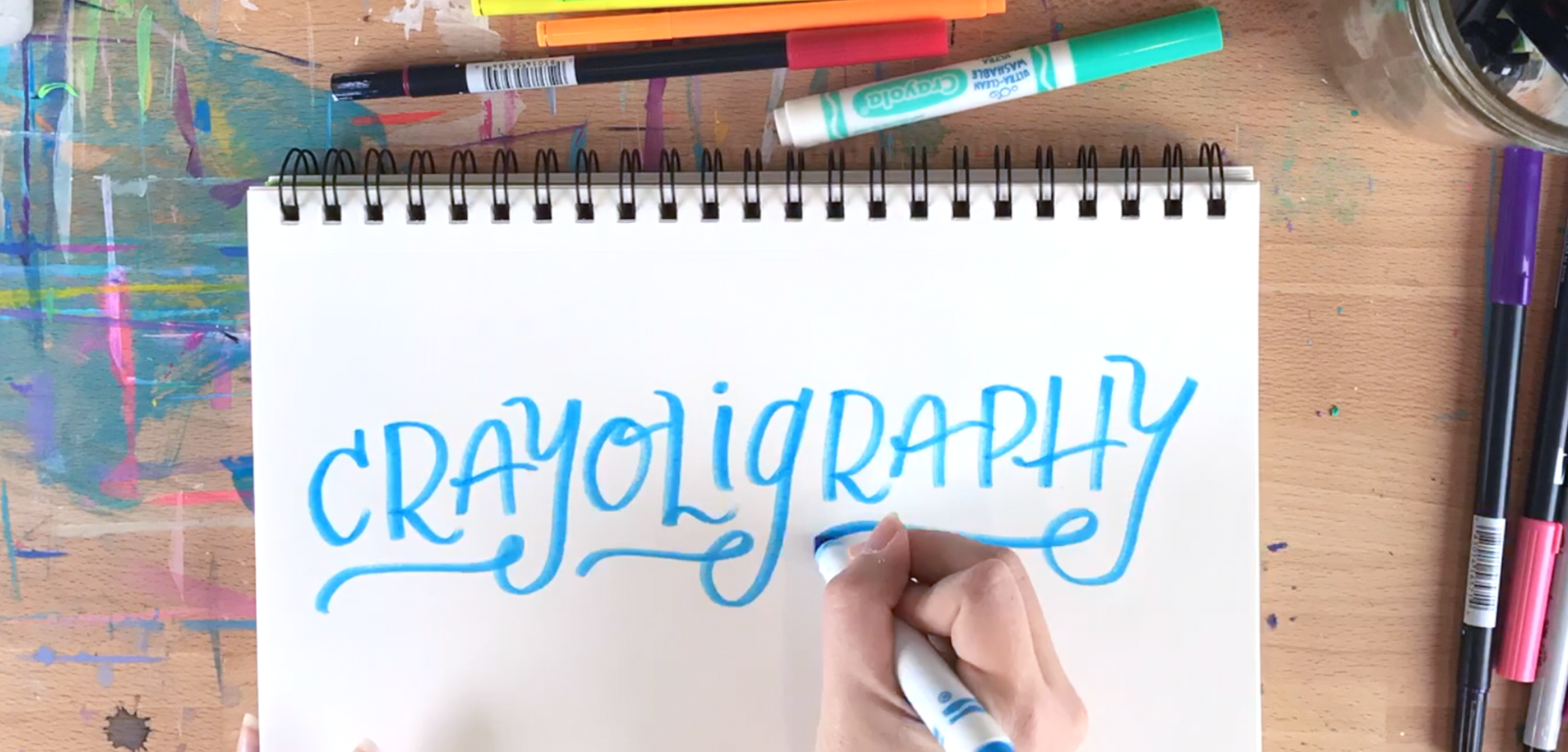 crayoligraphy lettering terms for beginners