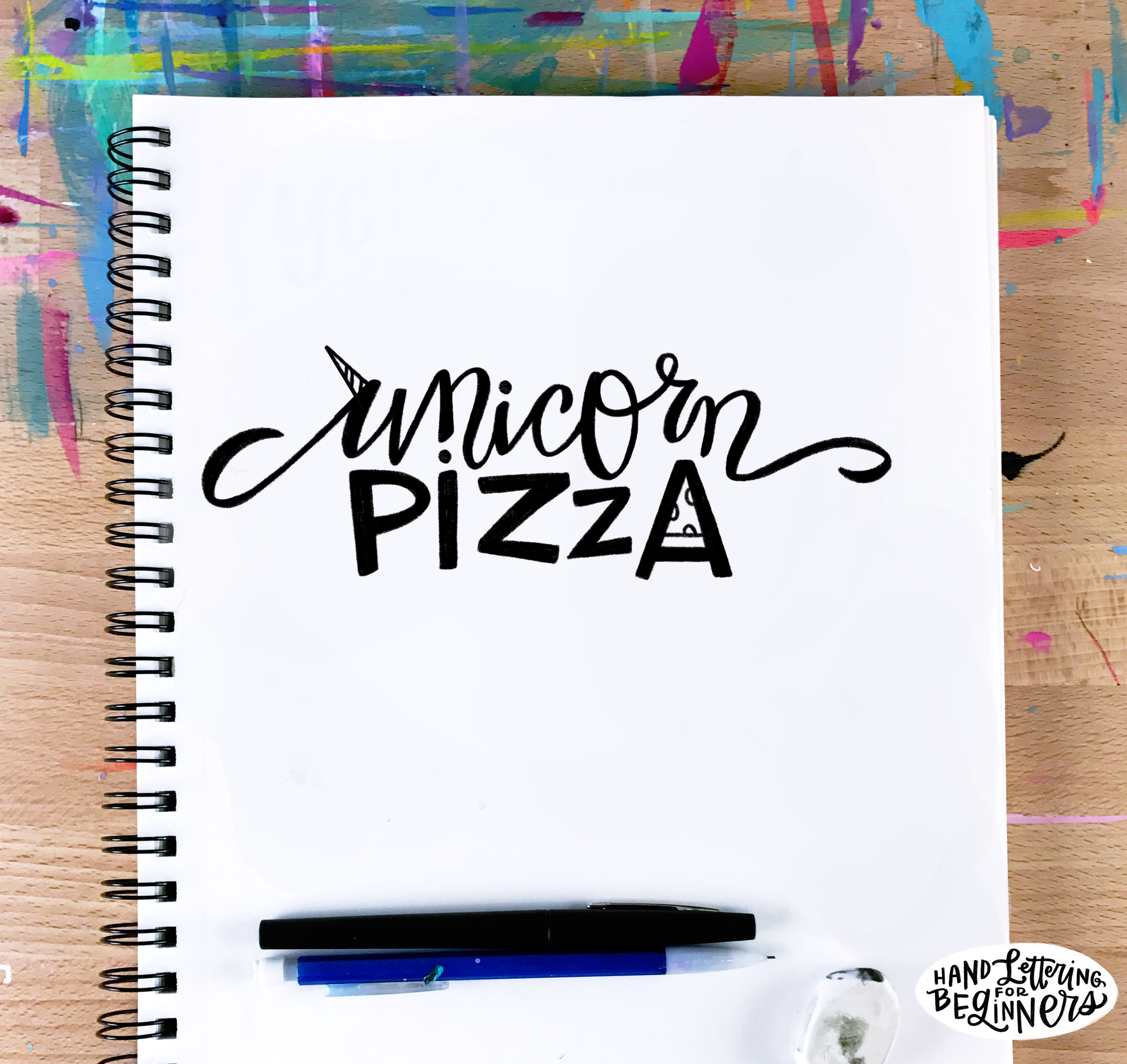 """Yes, this is my logo for a fictional company called """"Unicorn Pizza."""""""