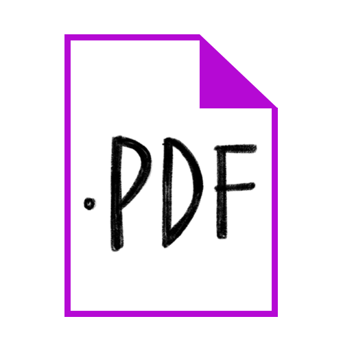 """PDF (Portable Document Format):  This is a popular format because not only is it widely viewable on any device or computer, but by selecting """"Preserve Illustrator Editing Capabilities"""" you're able to open this file in Illustrator and edit portions of it like you would an .ai file."""