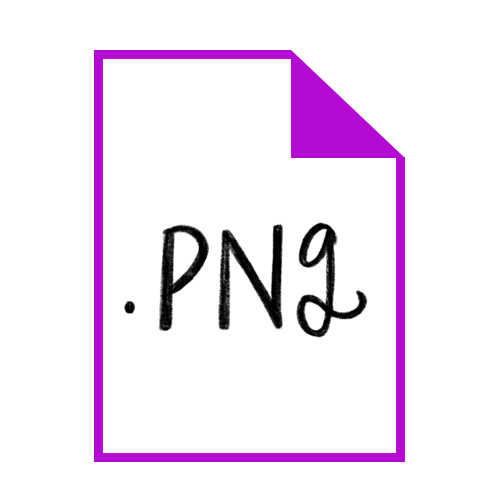 PNG (Portable Network Graphics):  Saving your file as a .png will not retain the vector capability that the other two formats do, but it will allow you to save a file with a transparent background for easy and quick use in any raster, pixel-based situation. (For example, I create web graphics a ton and I'm always grabbing my .png logo to quickly drop in as a watermark on those graphics.)