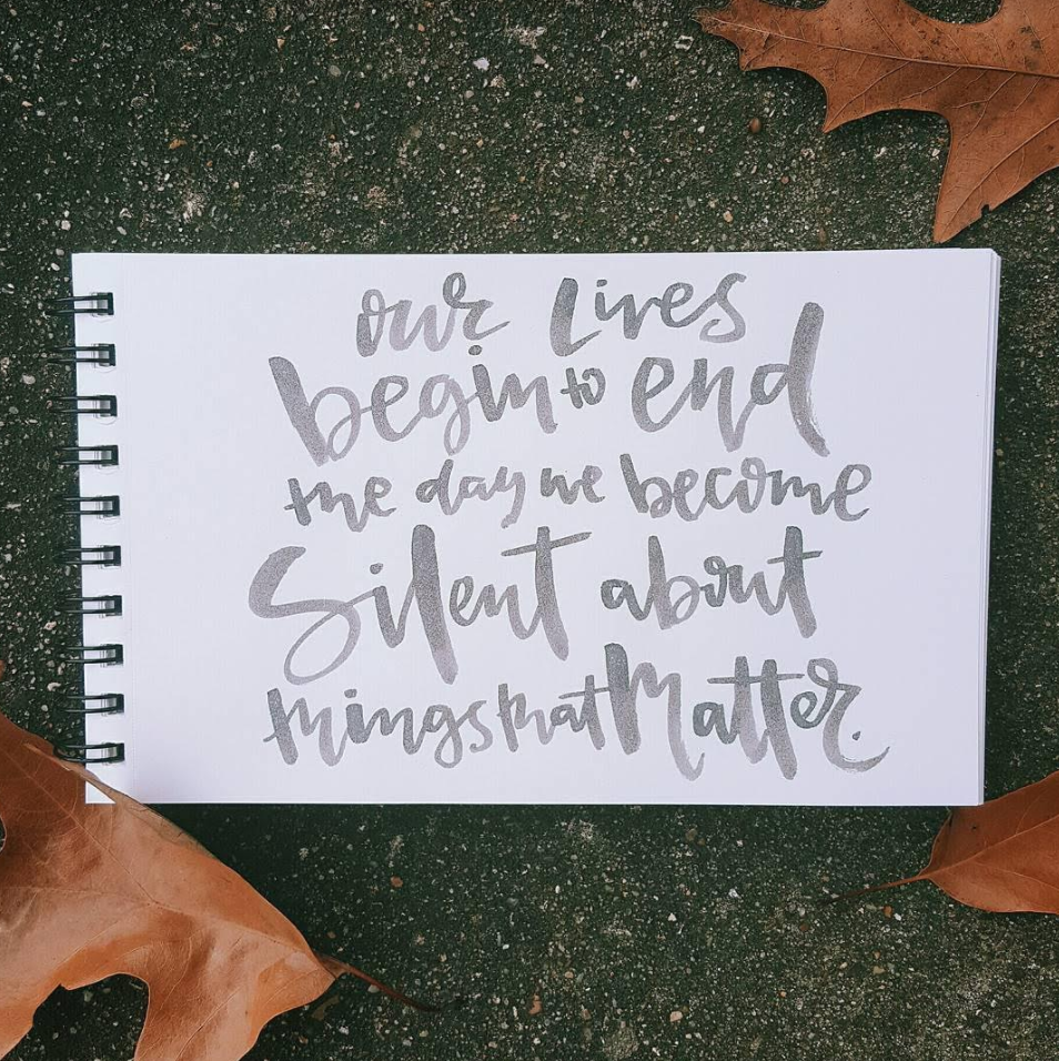 Lettering by Amelia Rusbar on Hand Lettering for Beginners
