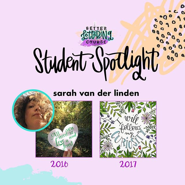 Happy Friday, lettering lovers! Most of you know we are BIG believers in the power of *consistent* practice for improving any creative skill. To show you the AMAZING progress that practice can get you, we're sharing some #BLCStudentSpotlight stories on the blog in the coming weeks.⠀ ⠀ Today's post features @mirglis! Check out Sarah's early work in 2016 compared to the refinement and skill in 2017. It's incredible! You can click through and read more about Sarah's lettering journey and definitely check out her Instagram to see how her lettering has evolved. We hope it inspires you to keep carving out time to create and keep practicing!⠀ ⠀ If you're ready to dive in but need a jumpstart, be sure to enter your email on HandletteringForBeginners.com to get our free 4-day email course, Launch Your Lettering Practice! 👍⠀ ⠀ Thanks for being a part of the #BetterLetteringCourse community, Sarah! And way to commit to your creativity!⠀ .⠀ .⠀ .⠀ .⠀ .⠀ #handlettering #lettering #handlettering #letteringco #madebyhand #goodletters #handletteredtype #drawletters #digitalart #handletteringforbeginners⠀