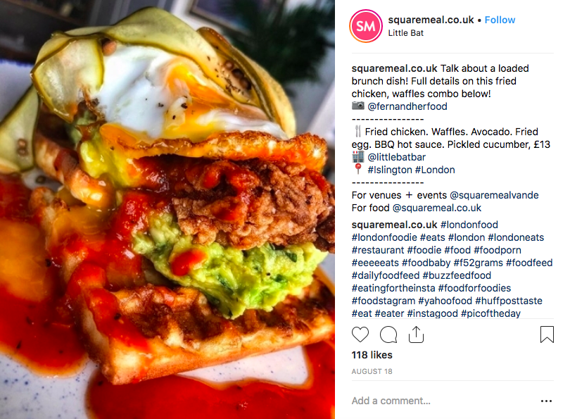 Square meal Instagram review