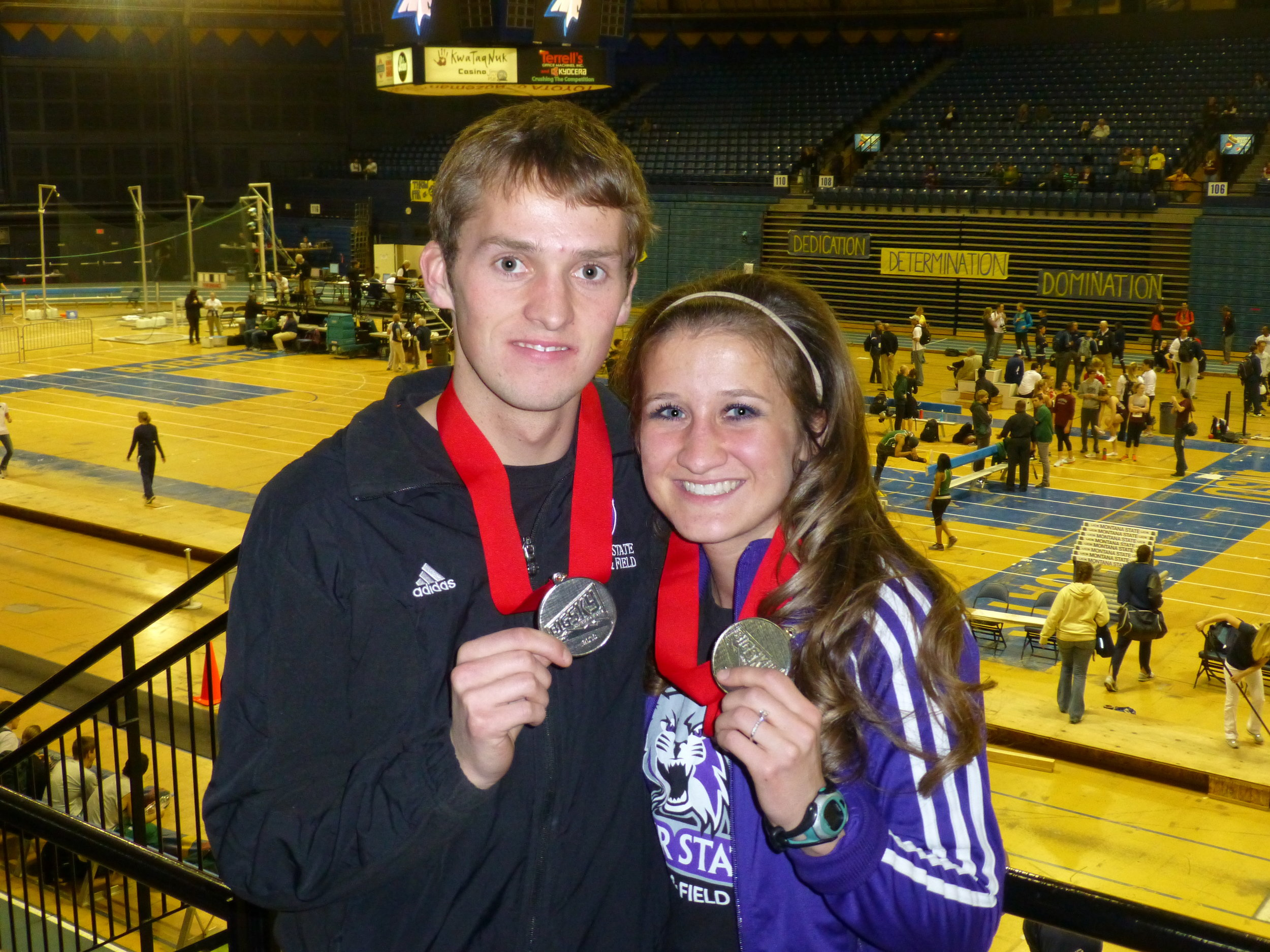 Kurt and I met at Weber State University.  We were on the Track and XC teams together!  Our love for each other and running has made our life together quite amazing!